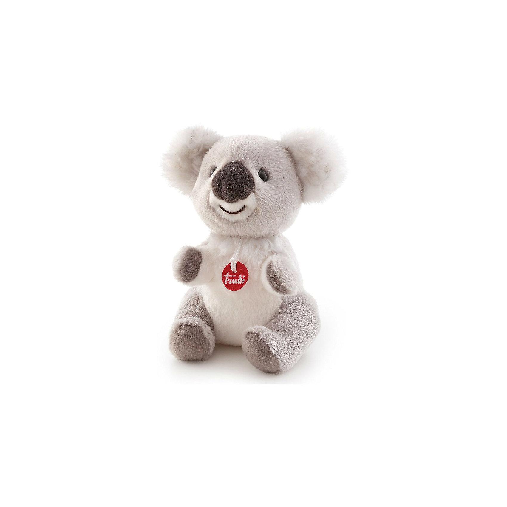 Коала, 15 см, TrudiЗвери и птицы<br>Милый коала от Trudi очарует и детей и взрослых! Мягкая шерстка коалы очень приятна на ощупь. С ним будет очень весело играть днем, придумывая разные истории, и спокойно и уютно засыпать ночью. Игрушка изготовлена из высококачественных нетоксичных гипоаллергенных материалов абсолютно безопасных для самых маленьких детей.<br><br>Дополнительная информация:<br><br>- Материал: пластик, текстиль, искусственный мех. <br>- Высота: 15 см. <br>- Допускается машинная стирка при деликатной режиме (30 ?).<br><br>Коалу, 15 см, Trudi (Труди), можно купить в нашем магазине.<br><br>Ширина мм: 95<br>Глубина мм: 150<br>Высота мм: 140<br>Вес г: 80<br>Возраст от месяцев: 12<br>Возраст до месяцев: 2147483647<br>Пол: Унисекс<br>Возраст: Детский<br>SKU: 5055247