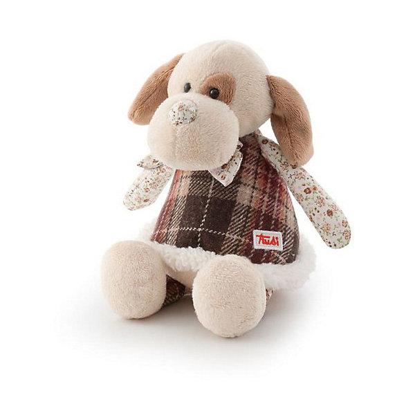 Собачка в стиле «прованс», 25 см, TrudiМягкие игрушки животные<br>Эта очаровательная собачка от Trudi приведет в восторг и детей, и взрослых! Игрушка изготовлена из высококачественных экологичных материалов разных фактур. Мягкая шерстка очень приятна на ощупь, а оригинальные исполнение, текстильные вставки и стилизация под hand made сделают собачку не только любимой игрушкой, но и стильным дополнением интерьера детской комнаты. Прекрасный подарок на любой праздник!<br><br>Дополнительная информация:<br><br>- Материал: плюш, пластик, текстиль, искусственный мех. <br>- Высота: 25 см. <br>- Допускается машинная стирка при деликатной режиме (30 ?).<br><br>Собачку в стиле «прованс», 25 см, Trudi (Труди), можно купить в нашем магазине.<br><br>Ширина мм: 250<br>Глубина мм: 190<br>Высота мм: 160<br>Вес г: 110<br>Возраст от месяцев: 12<br>Возраст до месяцев: 2147483647<br>Пол: Унисекс<br>Возраст: Детский<br>SKU: 5055252