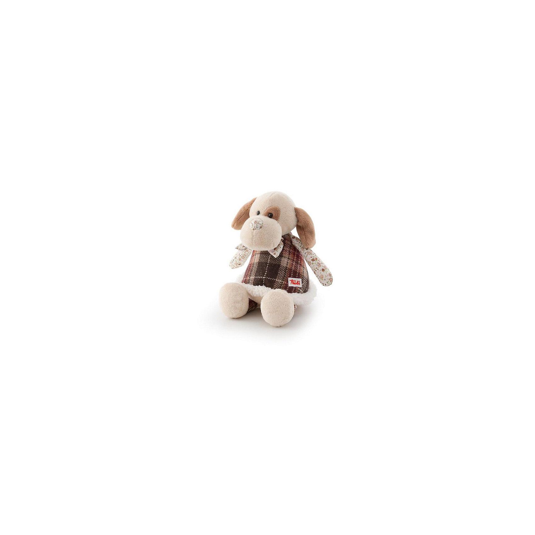 Собачка в стиле «прованс», 25 см, TrudiКошки и собаки<br>Эта очаровательная собачка от Trudi приведет в восторг и детей, и взрослых! Игрушка изготовлена из высококачественных экологичных материалов разных фактур. Мягкая шерстка очень приятна на ощупь, а оригинальные исполнение, текстильные вставки и стилизация под hand made сделают собачку не только любимой игрушкой, но и стильным дополнением интерьера детской комнаты. Прекрасный подарок на любой праздник!<br><br>Дополнительная информация:<br><br>- Материал: плюш, пластик, текстиль, искусственный мех. <br>- Высота: 25 см. <br>- Допускается машинная стирка при деликатной режиме (30 ?).<br><br>Собачку в стиле «прованс», 25 см, Trudi (Труди), можно купить в нашем магазине.<br><br>Ширина мм: 250<br>Глубина мм: 190<br>Высота мм: 160<br>Вес г: 110<br>Возраст от месяцев: 12<br>Возраст до месяцев: 2147483647<br>Пол: Унисекс<br>Возраст: Детский<br>SKU: 5055252