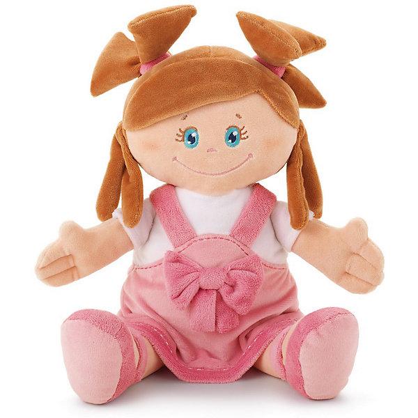Мягкая кукла в платье с бантом, 40 см, TrudiКуклы<br>Милая мягкая куколка станет отличным подарком любой девочке. Добрые глаза, озорные косички и розовое платье с бантиком никого не оставят равнодушным! С такой куклой будет очень весело играть днем и спокойно и уютно засыпать ночью. Игрушка очень приятная на ощупь, выполнена из мягкого плюша, набита гипоаллергенным нетоксичным наполнителем - абсолютно безопасна для детей. <br><br>Дополнительная информация:<br><br>- Материал: плюш, пластик, текстиль, искусственный мех. <br>- Высота: 40 см. <br>- Допускается машинная стирка при деликатной режиме (30 ?).<br><br>Мягкую куклу в платье с бантом, 40 см, Trudi (Труди), можно купить в нашем магазине.<br><br>Ширина мм: 165<br>Глубина мм: 90<br>Высота мм: 400<br>Вес г: 230<br>Возраст от месяцев: 12<br>Возраст до месяцев: 2147483647<br>Пол: Унисекс<br>Возраст: Детский<br>SKU: 5055253