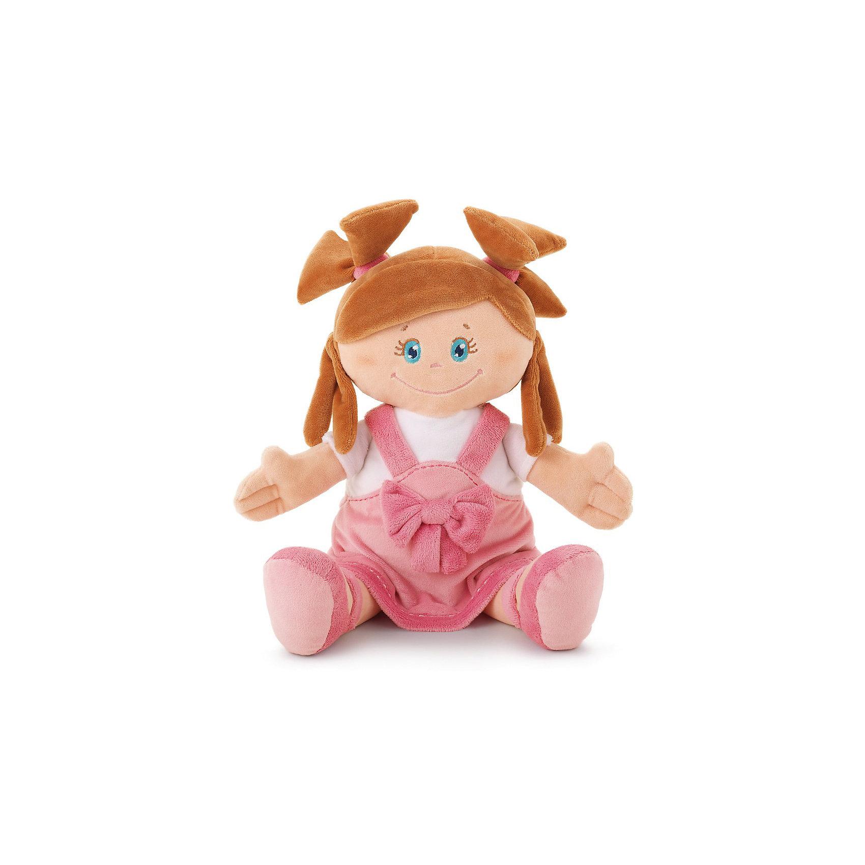 Мягкая кукла в платье с бантом, 40 см, TrudiМилая мягкая куколка станет отличным подарком любой девочке. Добрые глаза, озорные косички и розовое платье с бантиком никого не оставят равнодушным! С такой куклой будет очень весело играть днем и спокойно и уютно засыпать ночью. Игрушка очень приятная на ощупь, выполнена из мягкого плюша, набита гипоаллергенным нетоксичным наполнителем - абсолютно безопасна для детей. <br><br>Дополнительная информация:<br><br>- Материал: плюш, пластик, текстиль, искусственный мех. <br>- Высота: 40 см. <br>- Допускается машинная стирка при деликатной режиме (30 ?).<br><br>Мягкую куклу в платье с бантом, 40 см, Trudi (Труди), можно купить в нашем магазине.<br><br>Ширина мм: 165<br>Глубина мм: 90<br>Высота мм: 400<br>Вес г: 230<br>Возраст от месяцев: 12<br>Возраст до месяцев: 2147483647<br>Пол: Унисекс<br>Возраст: Детский<br>SKU: 5055253