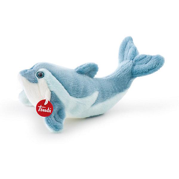 Дельфин Рей, 26 см, TrudiМягкие игрушки животные<br>Очаровательный дельфин Рей станет лучшим другом вашему ребенку! Дельфин выполнен из мягкого плюша, у него большие глаза, синяя спинка и белый животик - с ним будет очень весело играть днем и спокойно и уютно засыпать ночью.<br>Игрушка изготовлена из высококачественных нетоксичных материалов безопасных для детей. Благодаря тщательной проработке всех деталей, дельфин выглядит очень реалистично, что, несомненно, порадует ребенка. Прекрасный подарок на любой праздник!<br><br>Дополнительная информация:<br><br>- Материал: плюш, пластик, текстиль, искусственный мех. <br>- Высота: 26 см. <br><br>Дельфина Рея, 26 см, Trudi (Труди), можно купить в нашем магазине.<br><br>Ширина мм: 283<br>Глубина мм: 154<br>Высота мм: 116<br>Вес г: 115<br>Возраст от месяцев: 12<br>Возраст до месяцев: 72<br>Пол: Унисекс<br>Возраст: Детский<br>SKU: 5055254