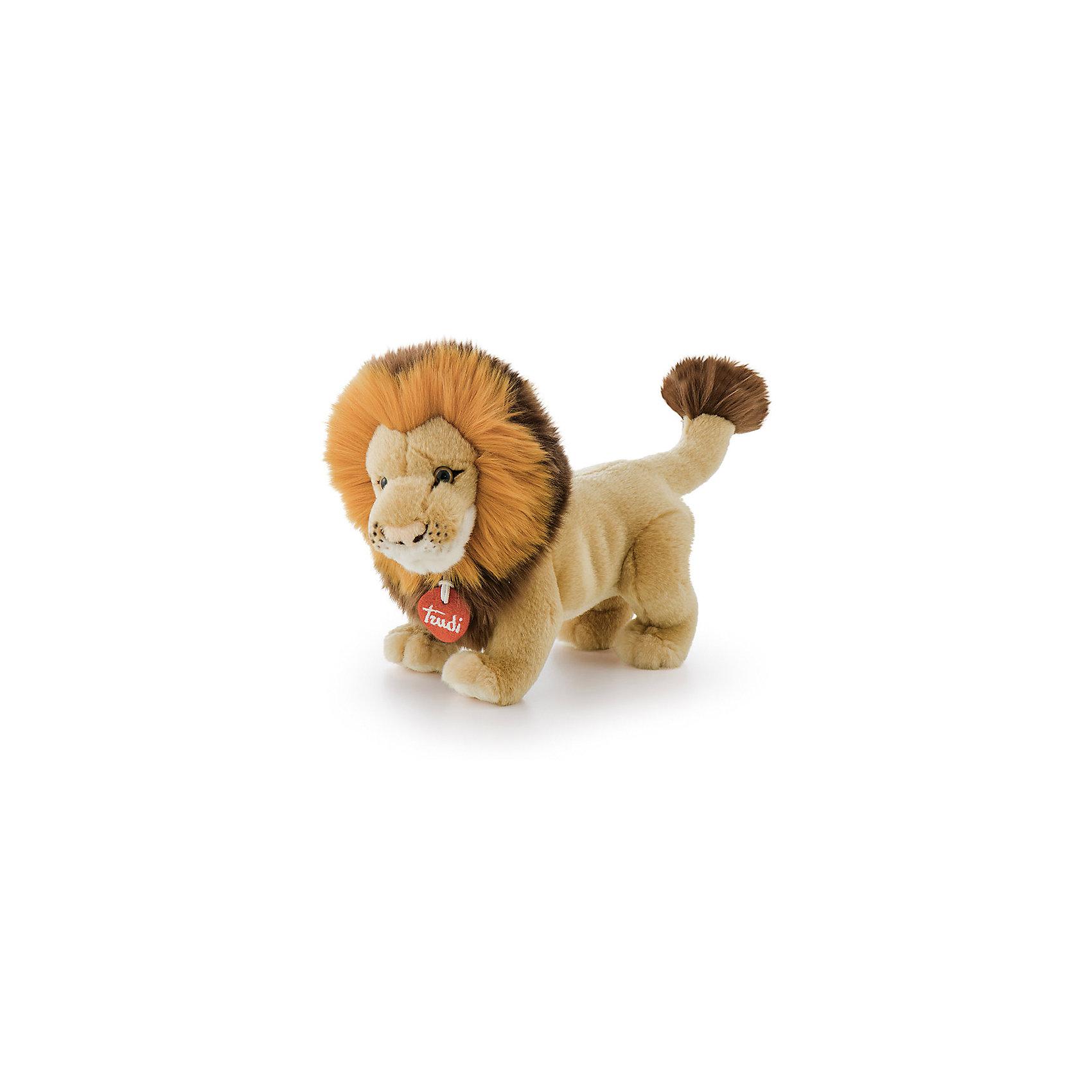 Лев Наполеон, 28 см, TrudiМягкие игрушки животные<br>Очаровательный лев Наполеон станет лучшим другом вашему малышу! У львенка мягкая шерстка, милый розовый носик, добрые озорные глаза и роскошная пушистая грива - с ним будет очень весело играть днем и спокойно и уютно засыпать ночью.<br>Игрушка изготовлена из высококачественных нетоксичных материалов абсолютно безопасных для детей. Благодаря тщательной проработке всех деталей, лев выглядит очень реалистично, что, несомненно, порадует ребенка. Прекрасный подарок на любой праздник!<br><br>Дополнительная информация:<br><br>- Материал: плюш, пластик, текстиль, искусственный мех. <br>- Высота: 28 см. <br><br>Льва Наполеона, 26 см, Trudi (Труди), можно купить в нашем магазине.<br><br>Ширина мм: 280<br>Глубина мм: 210<br>Высота мм: 180<br>Вес г: 180<br>Возраст от месяцев: 12<br>Возраст до месяцев: 2147483647<br>Пол: Унисекс<br>Возраст: Детский<br>SKU: 5055255