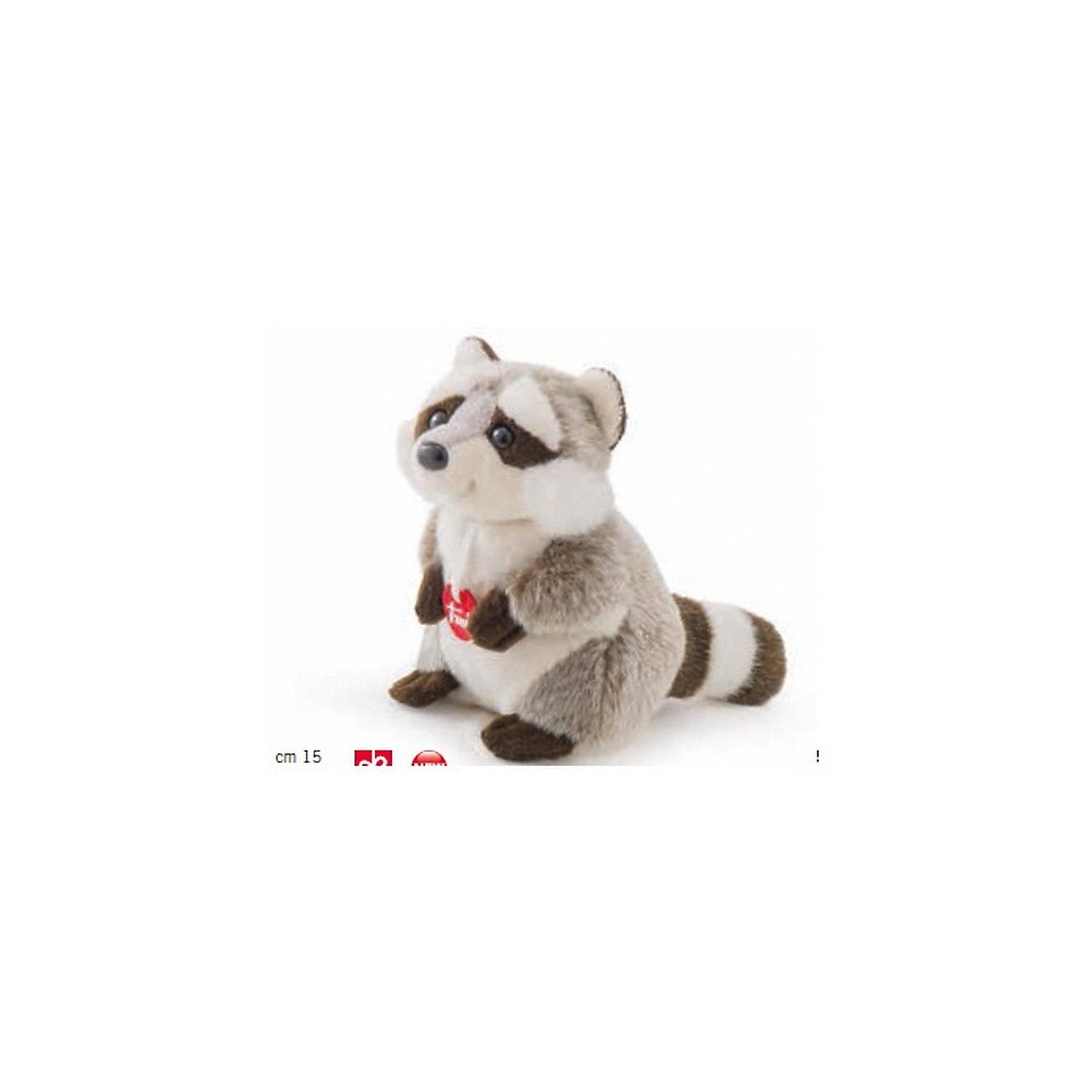 Trudi Енот, 15 см, Trudi trudi котёнок брэд серо белый 24 см
