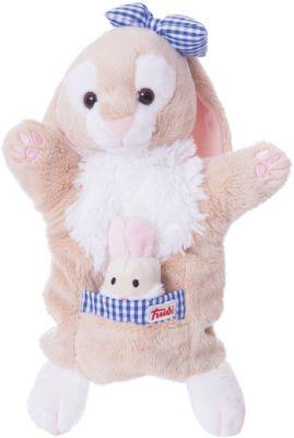 Мягкая игрушка на руку Зайчиха с зайчонком, 28 см, Trudi фото-1