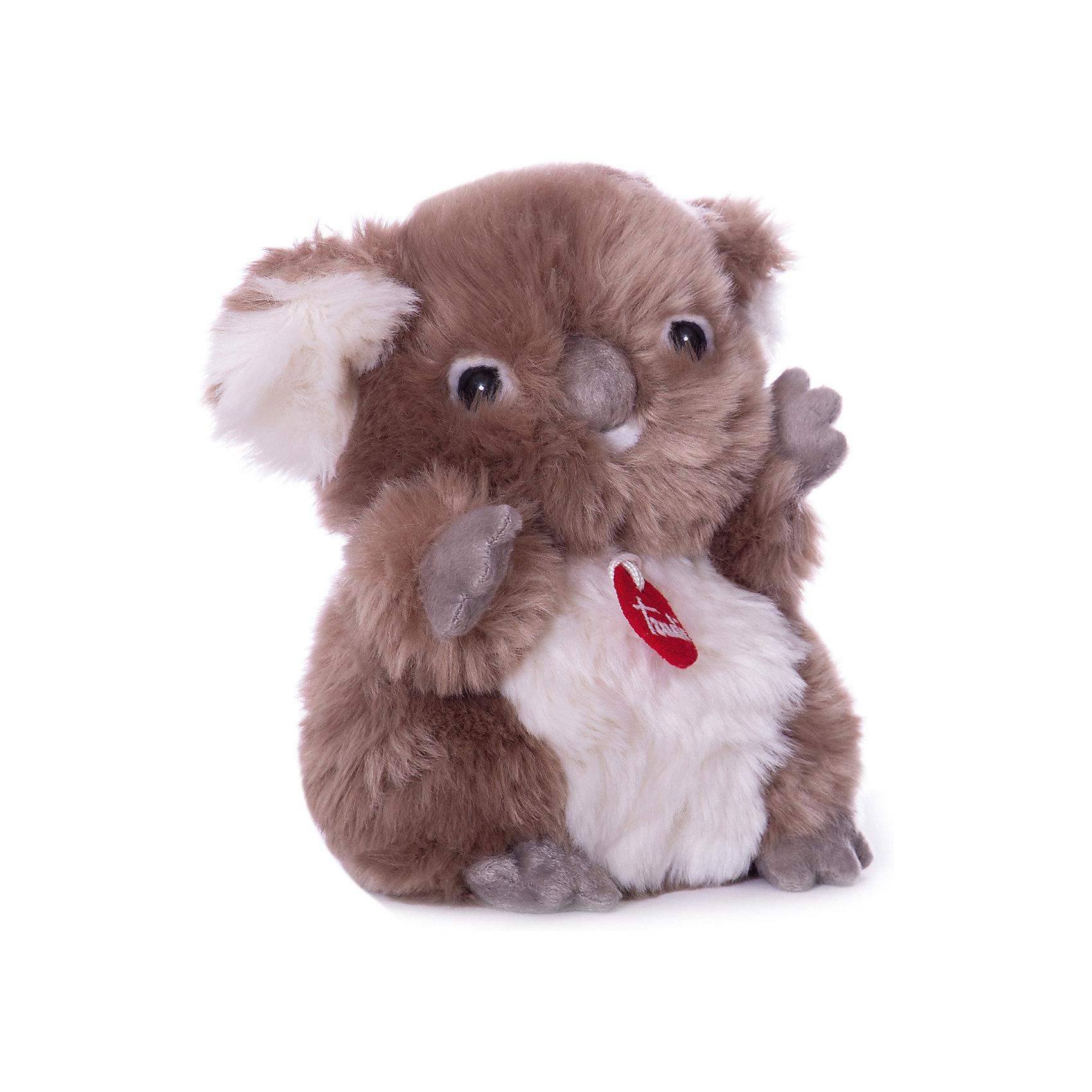 Коала-пушистик, 24 см, TrudiКоала-пушистик от Trudi очарует и детей и взрослых! Мягкая шерстка коалы очень приятна на ощупь, большой бархатный коричневый носик и озорные глазки приведут в восторг любого ребенка. С этим милым пушистиком будет очень весело играть, придумывая разные истории, и спокойно и уютно засыпать ночью. Игрушка изготовлена из высококачественных нетоксичных гипоаллергенных материалов абсолютно безопасных для самых маленьких детей.<br><br>Дополнительная информация:<br><br>- Материал: пластик, текстиль, искусственный мех. <br>- Высота: 24 см. <br><br>Коалу-пушистика, 24 см, Trudi (Труди), можно купить в нашем магазине.<br><br>Ширина мм: 140<br>Глубина мм: 140<br>Высота мм: 240<br>Вес г: 120<br>Возраст от месяцев: 12<br>Возраст до месяцев: 2147483647<br>Пол: Унисекс<br>Возраст: Детский<br>SKU: 5055262
