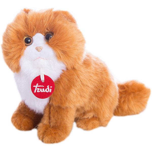 Рыжая персидская кошка, 23 см, TrudiМягкие игрушки животные<br>Рыжая персидская кошка от Trudi очарует и детей и взрослых! Мягкая шерстка кошечки очень приятна на ощупь, маленький носик и озорные глазки приведут в восторг любого ребенка. С этой милой киской будет очень весело играть, придумывая разные истории, и спокойно и уютно засыпать ночью. Игрушка изготовлена из высококачественных нетоксичных гипоаллергенных материалов абсолютно безопасных для самых маленьких детей.<br><br>Дополнительная информация:<br><br>- Материал: пластик, текстиль, искусственный мех. <br>- Высота: 23 см. <br><br>Рыжую персидскую кошку, 23 см, Trudi (Труди), можно купить в нашем магазине.<br><br>Ширина мм: 140<br>Глубина мм: 140<br>Высота мм: 230<br>Вес г: 120<br>Возраст от месяцев: 12<br>Возраст до месяцев: 2147483647<br>Пол: Унисекс<br>Возраст: Детский<br>SKU: 5055263
