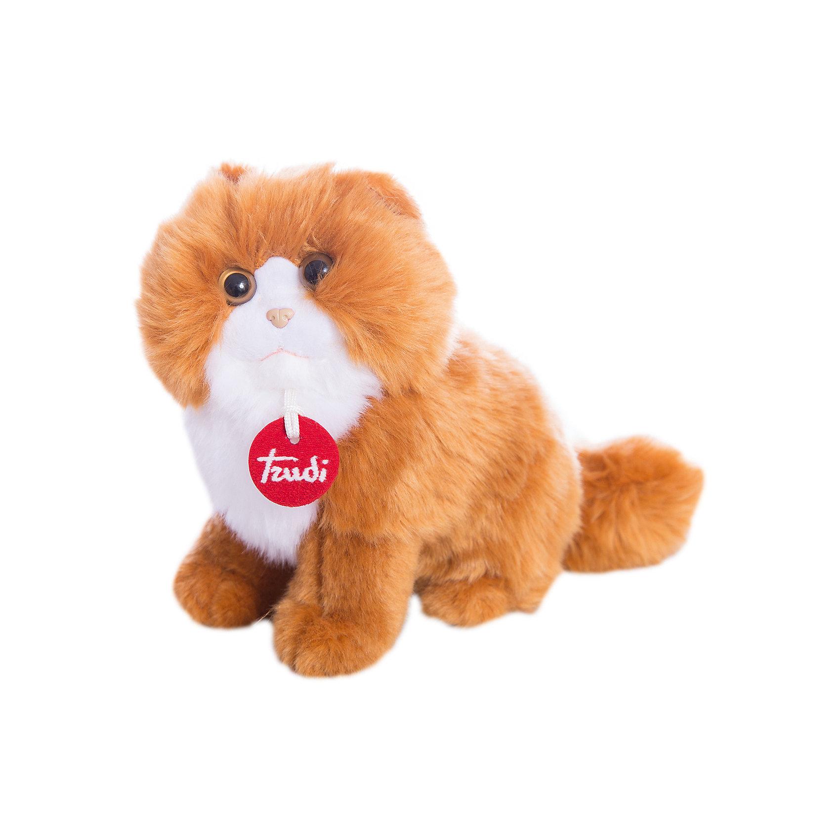 Рыжая персидская кошка, 23 см, TrudiРыжая персидская кошка от Trudi очарует и детей и взрослых! Мягкая шерстка кошечки очень приятна на ощупь, маленький носик и озорные глазки приведут в восторг любого ребенка. С этой милой киской будет очень весело играть, придумывая разные истории, и спокойно и уютно засыпать ночью. Игрушка изготовлена из высококачественных нетоксичных гипоаллергенных материалов абсолютно безопасных для самых маленьких детей.<br><br>Дополнительная информация:<br><br>- Материал: пластик, текстиль, искусственный мех. <br>- Высота: 23 см. <br><br>Рыжую персидскую кошку, 23 см, Trudi (Труди), можно купить в нашем магазине.<br><br>Ширина мм: 140<br>Глубина мм: 140<br>Высота мм: 230<br>Вес г: 120<br>Возраст от месяцев: 12<br>Возраст до месяцев: 2147483647<br>Пол: Унисекс<br>Возраст: Детский<br>SKU: 5055263
