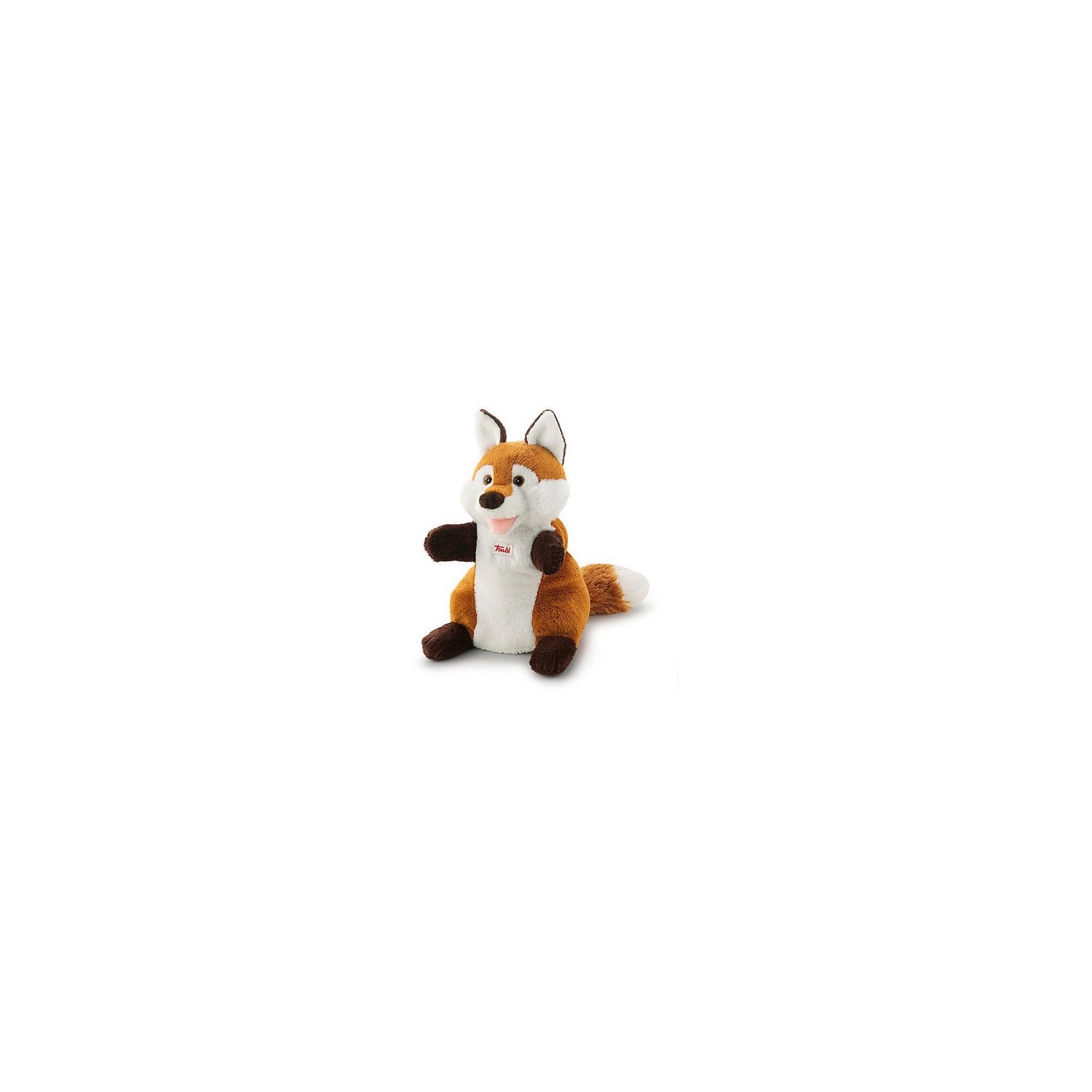 Мягкая игрушка на руку Лиса, 25 см, TrudiМягкие игрушки на руку<br>Очаровательная рыжая Лиса приведет в восторг любого ребенка. Игрушка надевается на руку: вы сможете разыграть с детьми маленький спектакль, а уже подросшие ребята смогут играть с забавной лисичкой самостоятельно.<br>Игрушка изготовлена из высококачественных экологичных материалов абсолютно безопасных для детей. Благодаря тщательной проработке всех деталей Лиса выглядит очень реалистично, что, несомненно, порадует ребенка. Прекрасный подарок на любой праздник! <br><br>Дополнительная информация:<br><br>- Материал: плюш, пластик, текстиль, искусственный мех. <br>- Высота: 25 см. <br>- Допускается машинная стирка при деликатной режиме (30 ?).<br><br>Мягкую игрушку на руку, Лису, 25 см, Trudi (Труди), можно купить в нашем магазине.<br><br>Ширина мм: 130<br>Глубина мм: 190<br>Высота мм: 250<br>Вес г: 120<br>Возраст от месяцев: 12<br>Возраст до месяцев: 2147483647<br>Пол: Унисекс<br>Возраст: Детский<br>SKU: 5055268
