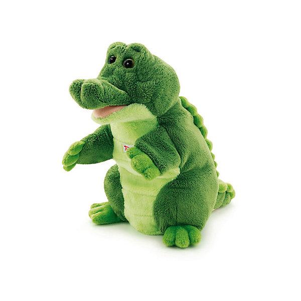 Мягкая игрушка на руку Крокодил, 25 см, TrudiМягкие игрушки на руку<br>Мягкая игрушка на руку Крокодил, 25 см от популярного итальянского бренда Trudi (Труди) сделает ваш домашний кукольный театр еще более правдоподобным. Качественно выполненная игрушка в виде забавного крокодила поможет проиграть множество постановок и придумать много своих историй. Также ребенок может играть с крокодилом как с обычной мягкой игрушкой. Игрушка поможет развить воображение, навыки общения, моторику рук.  <br>Дополнительная информация:<br><br>- Состав: текстиль<br>- Размер: 25 см. <br>- Вес: 150 гр.<br><br>Мягкую игрушку на руку Крокодил, 25 см, Trudi (Труди) можно купить в нашем интернет-магазине.<br>Подробнее:<br>• Для детей в возрасте: от 12 месяцев до 8 лет.<br>• Номер товара: 5055271<br>Страна производитель: Китай<br>Ширина мм: 130; Глубина мм: 190; Высота мм: 250; Вес г: 110; Возраст от месяцев: 12; Возраст до месяцев: 2147483647; Пол: Унисекс; Возраст: Детский; SKU: 5055271;