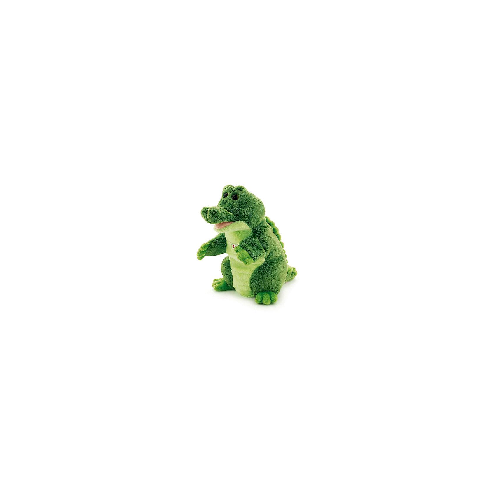Trudi Мягкая игрушка на руку Крокодил, 25 см, Trudi trudi игрушка на руку крокодил 25 см
