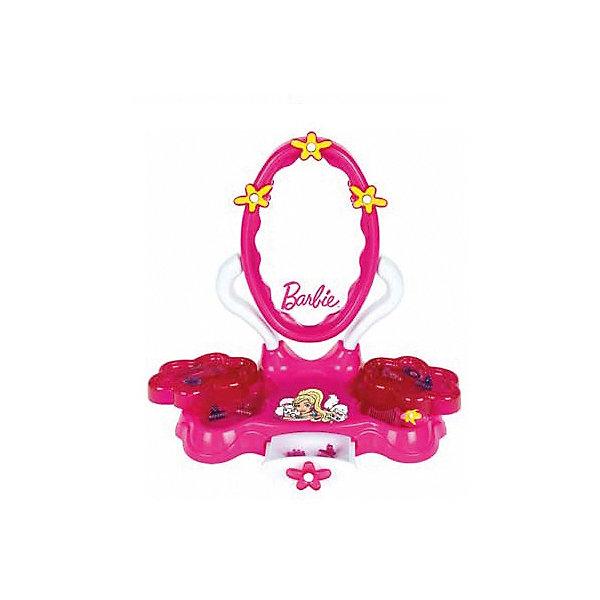 Игровой набор Студия красоты, Barbie, KleinИдеи подарков<br>Игровой набор Студия красоты, Barbie (Барби) от популярного немецкого бренда игрушек для детей Klein (Кляйн) станет отличным дополнением к играм в салон красоты. Стильный футлярчик розового цвета включает в себя все основные предметы каждой красавицы. В набор включены расческа-щетка, расческа гребень, небольшое зеркальце с розовой ручкой, две заколочки и два пузырька. Футляр удобно ставить на стол, так как у него имеются функциональные ножи, красивая застежка-бантик и нарисованная куколка-модника придут по вкусу хозяйке кукол и она захочет поскорее создать новый дизайн своим подопечным. В разложенном виде размер футляра 30 см. Игрушка поможет развить воображение и моторику рук.   <br>Дополнительная информация:<br><br>- В комплект входит: футляр, расческа-щетка, расческа гребень, маленькое зеркальце с розовой ручкой, две заколочки и два флакончика<br>- Состав: пластик<br>- Параметры: 33 * 9 * 32 см. <br><br><br>Игровой набор Студия красоты, Barbie (Барби), Klein (Кляйн) можно купить в нашем интернет-магазине.<br>Подробнее:<br>• Для детей в возрасте: от 3 до 6 лет <br>• Номер товара: 5055278<br>Страна производитель: Китай<br><br>Ширина мм: 416<br>Глубина мм: 356<br>Высота мм: 543<br>Вес г: 1466<br>Возраст от месяцев: 36<br>Возраст до месяцев: 120<br>Пол: Женский<br>Возраст: Детский<br>SKU: 5055278