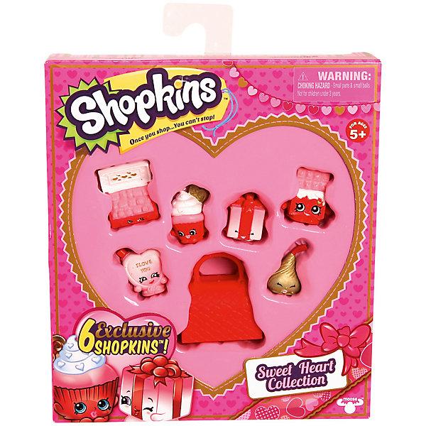 Игровой набор «Сладкое Сердечко», ShopkinsКоллекционные и игровые фигурки<br>Игровой набор «Сладкое Сердечко», Shopkins (Шопкинс) от австралийского бренда создавшего саму игру Shopkins (Шопкинс). Новая серия миленьких фигурок порадует своих фанатов! Этот набор содержит 6 персонажей и сумочку. Все они дружелюбные, очень яркие и выполнены из качественного пластика. Набор добавит радости и позитива даже тем, кто не знаком с игрой. С персонажами можно придумать много веселых игр и развивать свои социальные навыки, проигрывая множество ситуаций как в одиночку, так и друзьями. Фигурки представляют собой товары, которые можно купить в магазине ко дню Святого Валентина – набор шоколадок, кексик, конфетку или подарочек, только с забавными личиками. В наборе имеется брошюра коллекционера, в которой подобно рассказано о персонажах. Игрушка поможет развить воображение и моторику рук.   <br>Дополнительная информация:<br><br>- В комплект входит: 8 фигурок, сумочка, брошюра<br>- Состав: пластик<br>- Параметры: 18 * 3 * 16 см. <br><br><br>Игровой набор «Сладкое Сердечко», Shopkins (Шопкинс) можно купить в нашем интернет-магазине.<br>Подробнее:<br>• Для детей в возрасте: от 5 до 8 лет <br>• Номер товара: 5055285<br>Страна производитель: Китай<br><br>Ширина мм: 232<br>Глубина мм: 180<br>Высота мм: 207<br>Вес г: 150<br>Возраст от месяцев: 60<br>Возраст до месяцев: 120<br>Пол: Женский<br>Возраст: Детский<br>SKU: 5055285