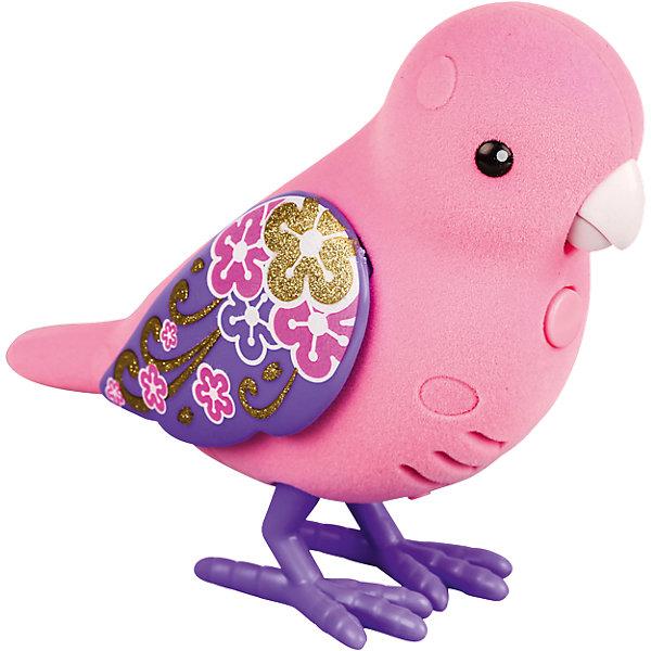 Интерактивная птичка, розовая с фиолетовыми крыльями, Little Live PetsИнтерактивные животные<br>Интерактивная птичка, розовая с фиолетовыми крыльями, Little Live Pets (Литтл лайв петс) от австралийского бренда Moose (Мус). Новая нежная игрушка – птичка, очень приятна на ощупь, ее тельце как будто сделано из бархата. Лапки сделаны как настоящие с небольшим рифлением и изгибами. Птичка может щебетать до тридцати собственных мелодий, и щебечет от поглаживания по спинке. Движения клювиком совпадают с щебетанием птички, что выглядит очень правдоподобно. Нажав на кнопку на грудке птички и дождавшись двойного щебета, птичка станет учить вашу фразу или мелодию. Фраза воспроизводится модифицированным голосом птички, что тоже выглядит очень правдоподобно. С птичкой можно придумать много игр и почувствовать, будто дома появился новый домашний питомец. Игрушка поможет развить воображение и творческие навыки. <br><br>Дополнительная информация:<br><br>- В комплект входит: 1 птичка в блистере<br>- Состав: пластик, флок<br>- Элементы питания: 2 батарейки типа ААА (в комплекте отсутствуют)<br>- 30 различных стилей щебетания<br>- Можно записывать свои фразы<br>- Параметры упаковки: 22 * 5 * 14 см. <br><br><br>Интерактивную птичку, розовая с фиолетовыми крыльями, Little Live Pets (Литтл лайв петс), Moose (Мус) можно купить в нашем интернет-магазине.<br>Подробнее:<br>• Для детей в возрасте: от 5 до 8 лет <br>• Номер товара: 5055292<br>Страна производитель: Китай<br><br>Ширина мм: 245<br>Глубина мм: 157<br>Высота мм: 78<br>Вес г: 125<br>Возраст от месяцев: 60<br>Возраст до месяцев: 108<br>Пол: Унисекс<br>Возраст: Детский<br>SKU: 5055292