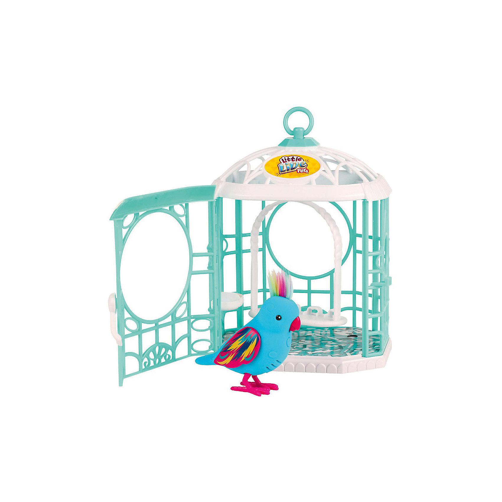 Интерактивная птичка в клетке, голубая, Little Live PetsИнтерактивная птичка в клетке, голубая, Little Live Pets (Литтл лайв петс) от австралийского бренда Moose (Мус). Новая яркая игрушка – птичка, очень приятна на ощупь, ее тельце как будто сделано из бархата. Лапки сделаны как настоящие с небольшим рифлением и изгибами. Красивый хохолок птички отлично сочетается с яркими крылышками. Птичка может щебетать до тридцати собственных мелодий, и щебечет от поглаживания по спинке. Движения клювиком совпадают с щебетанием птички, что выглядит очень правдоподобно. Нажав на кнопку на грудке птички и дождавшись двойного щебета, птичка станет учить вашу фразу или мелодию. Фраза воспроизводится модифицированным голосом птички, что тоже выглядит очень правдоподобно. С птичкой можно придумать много игр и почувствовать, будто дома появился новый домашний питомец. Специальная клетка будет отличным домиком для питомца, а качельки для птички имеют еще одно место для еще одной птички, если ребенок захочет поместить друга или подружку своему любимцу. Игрушка поможет развить воображение и творческие навыки. <br><br>Дополнительная информация:<br><br>- В комплект входит: 1 птичка,клетка<br>- Состав: пластик, флок<br>- Элементы питания: 2 батарейки типа ААА (в комплекте отсутствуют)<br>- 30 различных стилей щебетания<br>- Можно записывать свои фразы<br>- Параметры упаковки: 11 * 6 * 7 см. <br><br><br>Интерактивную птичку в клетке, голубая, Little Live Pets (Литтл лайв петс), Moose (Мус) можно купить в нашем интернет-магазине.<br>Подробнее:<br>• Для детей в возрасте: от 5 до 8 лет <br>• Номер товара: 5055295<br>Страна производитель: Китай<br><br>Ширина мм: 150<br>Глубина мм: 189<br>Высота мм: 290<br>Вес г: 600<br>Возраст от месяцев: 60<br>Возраст до месяцев: 120<br>Пол: Унисекс<br>Возраст: Детский<br>SKU: 5055295