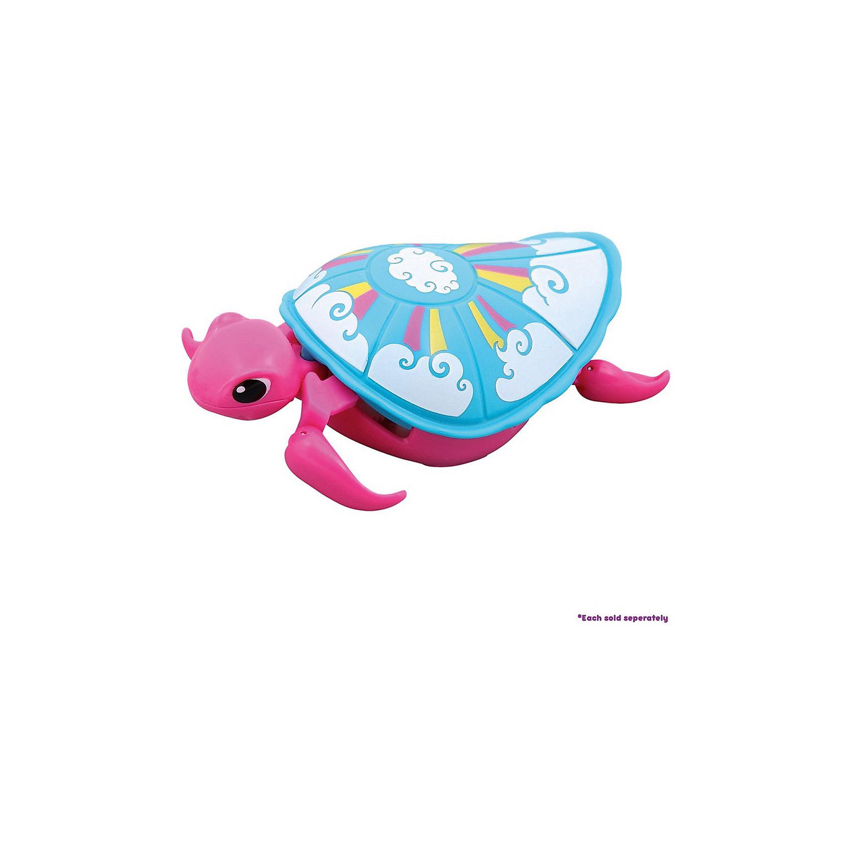 Интерактивная черепашка, розовая, 3-я серия, Little Live PetsИнтерактивная черепашка, розовая, 3-я серия, Little Live Pets – разнообразит купание вашего малыша. <br>Черепашка не только замечательно ползает на суше, но и отлично плавает в воде. Черепашка очень похожа на настоящую. Материал безопасен для детей, не выделяет вредных веществ в воду. Она шевелит ластами и головой. Кнопка включения находится на брюшке. Не рекомендуется играть в морской воде и на песке.<br><br>Дополнительная информация:<br><br>- возраст: от 5 лет<br>- материал: пластик<br>- на батарейке ААА(LR03)  <br>- цвет: розовый<br><br>Интерактивная черепашка, розовая, 3-я серия, Little Live Pets можно купить в нашем интернет-магазине.<br><br>Ширина мм: 50<br>Глубина мм: 160<br>Высота мм: 220<br>Вес г: 200<br>Возраст от месяцев: 60<br>Возраст до месяцев: 120<br>Пол: Унисекс<br>Возраст: Детский<br>SKU: 5055304