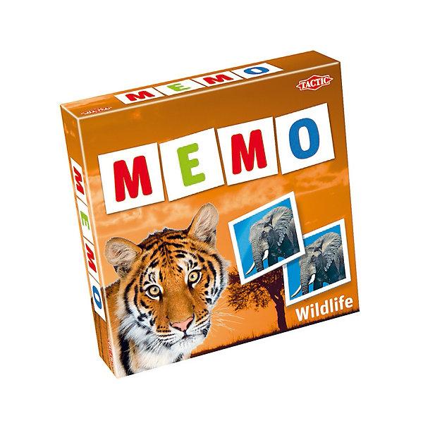 Игра Мемо Дикие животные 2, Tactic GamesИгры мемо<br>Игра Мемо Дикие животные 2, Tactic Games – интересная игра, развивающая детей. <br>В наборе множество красочных фотографий различных диких животных. Расположите картинки на столе и поочередно открывайте их. Тот, кто первый видит пару, должен стукнуть по первой картинке из пары. Игра развивает память, внимание, усидчивость и логическое мышление.<br><br>Дополнительная информация:<br><br>- возраст: от 3 лет<br><br>Игру Мемо Дикие животные 2, Tactic Games можно купить в нашем интернет-магазине.<br>Ширина мм: 220; Глубина мм: 50; Высота мм: 220; Вес г: 400; Возраст от месяцев: 36; Возраст до месяцев: 2147483647; Пол: Унисекс; Возраст: Детский; SKU: 5055325;