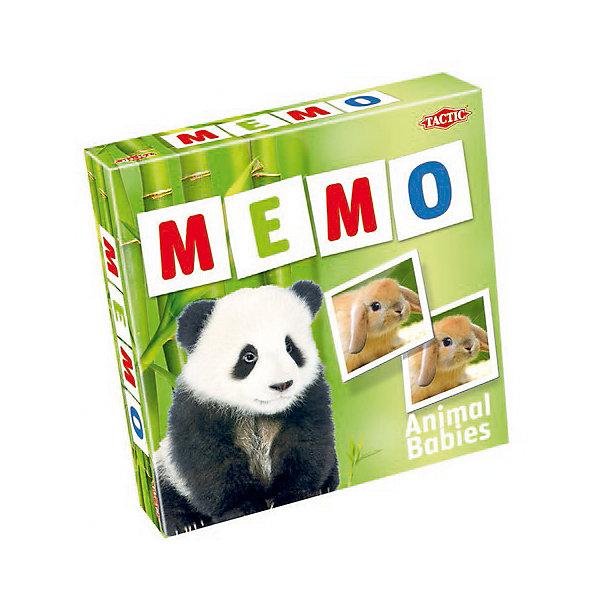 Игра Мемо Зверята 2, Tactic GamesИгры мемо<br>Игра Мемо Зверята 2, Tactic Game – интересная игра, развивающая детей. <br>В наборе множество красочных фотографий различных животных. Расположите картинки на столе и поочередно открывайте их. Тот, кто первый видит пару, должен стукнуть по первой картинке из пары. Игра развивает память, внимание, усидчивость и логическое мышление.<br><br>Дополнительная информация:<br><br>- возраст: от 3 лет<br><br>Игру Мемо Зверята 2, Tactic Games можно купить в нашем интернет-магазине.<br>Ширина мм: 220; Глубина мм: 50; Высота мм: 220; Вес г: 400; Возраст от месяцев: 36; Возраст до месяцев: 2147483647; Пол: Женский; Возраст: Детский; SKU: 5055326;