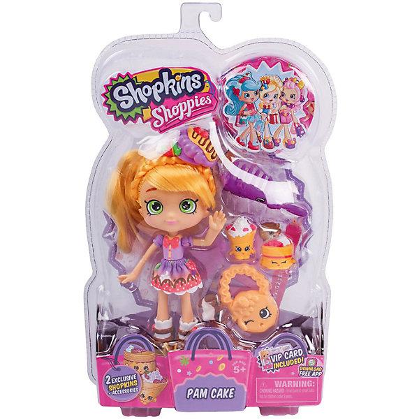 Кукла Памкейк с аксессуарами, ShopkinsМини-куклы<br>Шопкинс - это любимые герои многих современных детей! Кукла в виде героини этого мультфильма Памкейк обязательно порадует ребенка, тем более, что она дополнена стильным нарядом и аксессуарами.<br>Такие игрушки способствуют развитию мелкой моторики, мышления и социальных навыков. Также куклы помогают девочкам научиться ухаживать за собой и за другими. Сделана из материалов, безопасных для детей.<br><br>Дополнительная информация:<br><br>комплектация: кукла, сумочка, 2 эксклюзивных Shopkins, расческа, VIP карточка и подставка для куклы;<br>рекомендуемый возраст: от трех лет;<br>материал: полимер.<br><br>Куклу Памкейк с аксессуарами от бренда Shopkins (Шопкинс) можно купить в нашем интернет-магазине.<br><br>Ширина мм: 68<br>Глубина мм: 170<br>Высота мм: 250<br>Вес г: 250<br>Возраст от месяцев: 36<br>Возраст до месяцев: 120<br>Пол: Женский<br>Возраст: Детский<br>SKU: 5055351