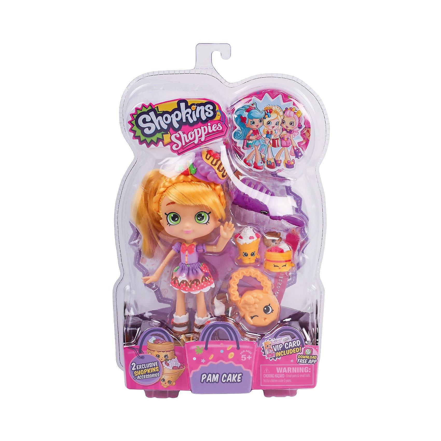 Кукла Памкейк с аксессуарами, ShopkinsShopkins<br>Шопкинс - это любимые герои многих современных детей! Кукла в виде героини этого мультфильма Памкейк обязательно порадует ребенка, тем более, что она дополнена стильным нарядом и аксессуарами.<br>Такие игрушки способствуют развитию мелкой моторики, мышления и социальных навыков. Также куклы помогают девочкам научиться ухаживать за собой и за другими. Сделана из материалов, безопасных для детей.<br><br>Дополнительная информация:<br><br>комплектация: кукла, сумочка, 2 эксклюзивных Shopkins, расческа, VIP карточка и подставка для куклы;<br>рекомендуемый возраст: от трех лет;<br>материал: полимер.<br><br>Куклу Памкейк с аксессуарами от бренда Shopkins (Шопкинс) можно купить в нашем интернет-магазине.<br><br>Ширина мм: 68<br>Глубина мм: 170<br>Высота мм: 250<br>Вес г: 250<br>Возраст от месяцев: 36<br>Возраст до месяцев: 120<br>Пол: Женский<br>Возраст: Детский<br>SKU: 5055351