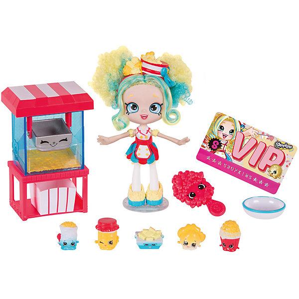 Игровой набор «Лавка попкорна Попетт», ShopkinsИгровые наборы с фигурками<br>Играть с любимыми мультяшными персонажами всегда веселее! Шопкинс - это любимые герои многих современных детей! Кукла в виде героини из одноименного мультфильма обязательно порадует ребенка, тем более, что она дополнена стильным нарядом и аксессуарами. Также в набор входят еще пять фигурок Шопкинс.<br>Такие игрушки способствуют развитию мелкой моторики, мышления и социальных навыков. Также куклы помогают девочкам научиться ухаживать за собой и за другими. Сделана из материалов, безопасных для детей.<br><br>Дополнительная информация:<br><br>комплектация: кукла, пять эксклюзивных фигурок Shopkins, машина для изготовления попкорна, чаша для смешивания, коробка для попкорна, расческа, подставка для куклы и Vip карта;<br>рекомендуемый возраст: от пяти лет;<br>материал: полимер.<br><br>Игровой набор «Лавка попкорна Попетт» от бренда Shopkins (Шопкинс) можно купить в нашем интернет-магазине.<br><br>Ширина мм: 212<br>Глубина мм: 349<br>Высота мм: 243<br>Вес г: 510<br>Возраст от месяцев: 60<br>Возраст до месяцев: 120<br>Пол: Женский<br>Возраст: Детский<br>SKU: 5055354