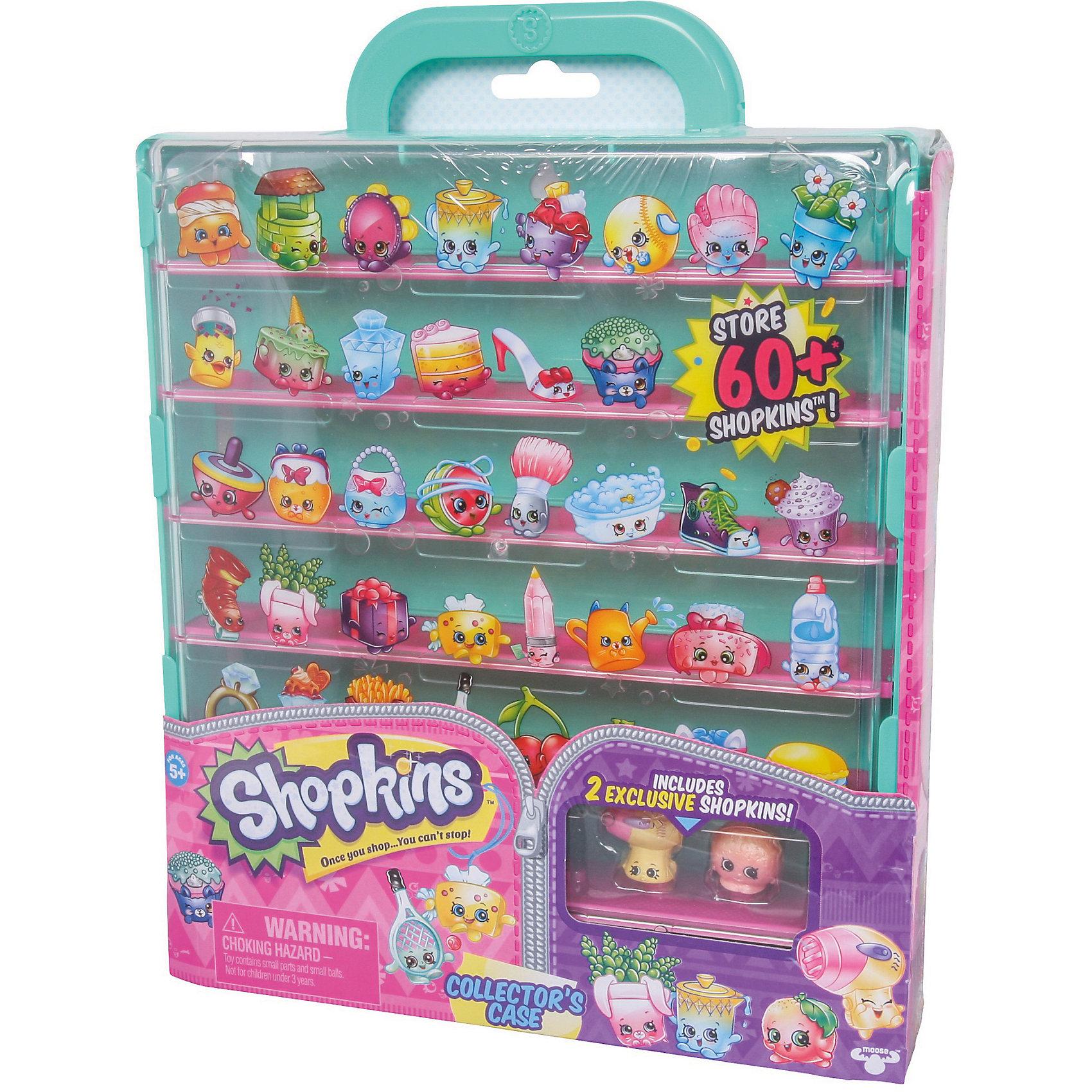 Кейс для хранения фигурок, ShopkinsКоллекционные и игровые фигурки<br>Играть с любимыми мультяшными персонажами всегда веселее! Шопкинс - это любимые герои многих современных детей. Фигурки в виде героев из одноименного мультфильма обязательно порадуют ребенка. Также в набор входит специальный кейс для их хранения.<br>Такие игрушки способствуют развитию мелкой моторики, мышления и социальных навыков. Сделаны из материалов, безопасных для детей.<br><br>Дополнительная информация:<br><br>комплектация: две фигурки Shopkins, наклейки, кейс;<br>рекомендуемый возраст: от пяти лет;<br>размер: 30 х 23 см;<br>материал: полимер.<br><br>Кейс для хранения фигурок от бренда Shopkins (Шопкинс) можно купить в нашем интернет-магазине.<br><br>Ширина мм: 236<br>Глубина мм: 315<br>Высота мм: 318<br>Вес г: 640<br>Возраст от месяцев: 60<br>Возраст до месяцев: 120<br>Пол: Женский<br>Возраст: Детский<br>SKU: 5055356