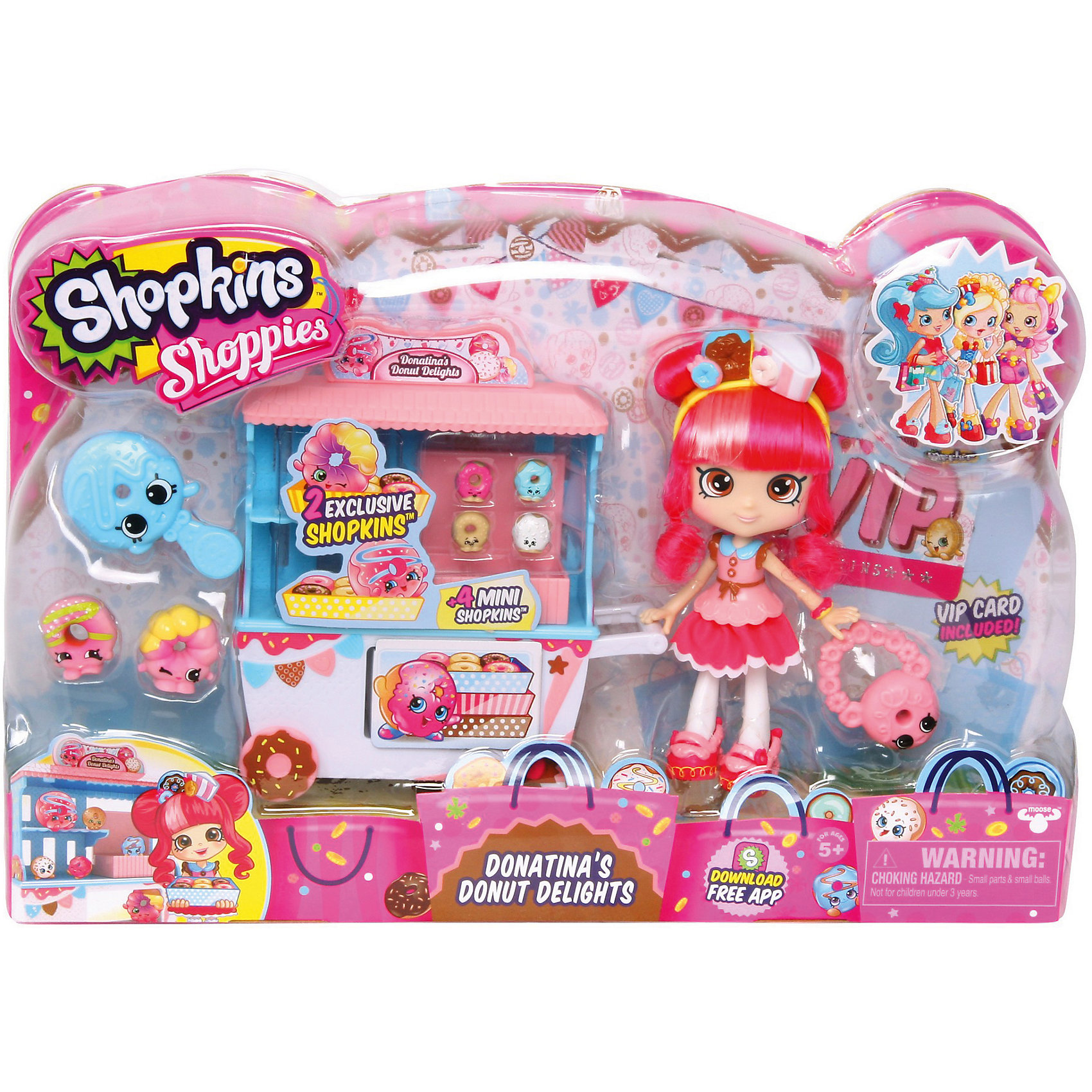 Moose Игровой набор Пончик Счастья Донатины, Shopkins фигурки игрушки moose кукла шоппиес джессикейк
