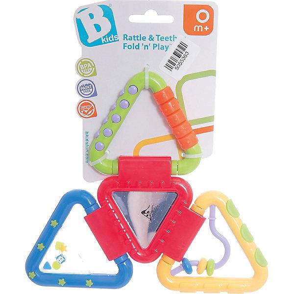 Игрушка Веселые треугольнички, BKidsИгрушки для новорожденных<br>Характеристики:<br><br>• игрушка с прорезывателем;<br>• цветные бусины на витиеватой дуге;<br>• рельефная поверхность треугольников;<br>• элементы складываются в одну фигурку;<br>• в наборе 4 треугольника;<br>• материал: пластик.<br><br>Игрушка BKids состоит из треугольничков, которые складываются в фигуру. Игрушка имеет рельефную поверхность для режущихся зубов, лабиринт, гремящую часть и зеркало.<br> <br>Игрушка Веселые треугольнички, BKids можно купить в нашем интернет-магазине.<br><br>Ширина мм: 101<br>Глубина мм: 101<br>Высота мм: 20<br>Вес г: 95<br>Возраст от месяцев: 0<br>Возраст до месяцев: 36<br>Пол: Унисекс<br>Возраст: Детский<br>SKU: 5055363