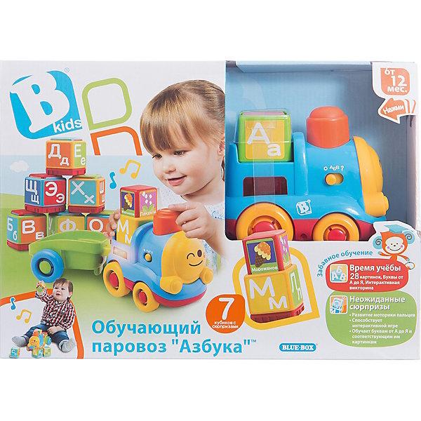 Развивающий игровой набор  Паровоз, BKidsИнтерактивные игрушки для малышей<br>Развивать способности ребенка можно с самого раннего возраста. Делая это в игре, малыш всесторонне изучает мир и осваивает новые навыки. Эта игрушка состоит из вагона, паровоза и кубиков с буквами. Она имеет специальные звуковые возможности: может задавать ребенку вопросы или рассказывать о буквах.<br>Такие игрушки способствуют развитию мелкой моторики, воображения, цвето- и звуковосприятия, тактильных ощущений и обучению. Изделие разработано специально для самых маленьких. Сделано из материалов, безопасных для детей.<br><br>Дополнительная информация:<br><br>цвет: разноцветный;<br>комплектация: вагон, паровоза и 7 кубиков с буквами;<br>2 батарейки входят в комплект;<br>возраст: от года.<br><br>Развивающий игровой набор Паровоз от бренда BKids можно купить в нашем интернет-магазине.<br><br>Ширина мм: 95<br>Глубина мм: 95<br>Высота мм: 254<br>Вес г: 931<br>Возраст от месяцев: 12<br>Возраст до месяцев: 36<br>Пол: Унисекс<br>Возраст: Детский<br>SKU: 5055364