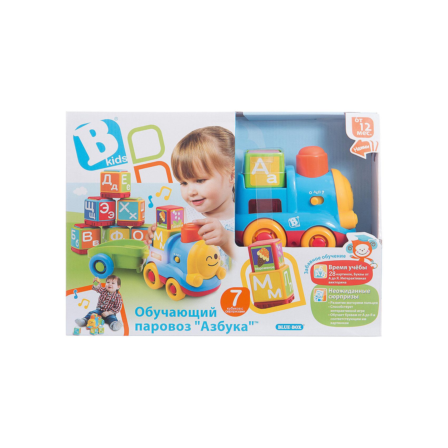 Развивающий игровой набор  Паровоз, BKidsМашинки и транспорт для малышей<br>Развивать способности ребенка можно с самого раннего возраста. Делая это в игре, малыш всесторонне изучает мир и осваивает новые навыки. Эта игрушка состоит из вагона, паровоза и кубиков с буквами. Она имеет специальные звуковые возможности: может задавать ребенку вопросы или рассказывать о буквах.<br>Такие игрушки способствуют развитию мелкой моторики, воображения, цвето- и звуковосприятия, тактильных ощущений и обучению. Изделие разработано специально для самых маленьких. Сделано из материалов, безопасных для детей.<br><br>Дополнительная информация:<br><br>цвет: разноцветный;<br>комплектация: вагон, паровоза и 7 кубиков с буквами;<br>2 батарейки входят в комплект;<br>возраст: от года.<br><br>Развивающий игровой набор Паровоз от бренда BKids можно купить в нашем интернет-магазине.<br><br>Ширина мм: 95<br>Глубина мм: 95<br>Высота мм: 254<br>Вес г: 931<br>Возраст от месяцев: 12<br>Возраст до месяцев: 36<br>Пол: Унисекс<br>Возраст: Детский<br>SKU: 5055364