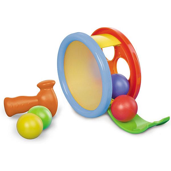 Игровой набор Арена с молоточком, BKidsРазвивающие игрушки<br>Развивать способности ребенка можно с самого раннего возраста. Делая это в игре, малыш всесторонне изучает мир и осваивает новые навыки. Эта игрушка одновременно и сортер с забивалкой, и барабан, и каталка. <br>Такие игрушки способствуют развитию мелкой моторики, воображения, цвето- и звуковосприятия, тактильных ощущений и обучению. Изделие разработано специально для самых маленьких. Сделано из материалов, безопасных для детей.<br><br>Дополнительная информация:<br><br>цвет: разноцветный;<br>комплектация: сортер-барабан, 4 шарика, молоточек;<br>размер упаковки: 20 х 9 х18 см;<br>возраст: от года.<br><br>Игровой набор Арена с молоточком от бренда BKids можно купить в нашем интернет-магазине.<br><br>Ширина мм: 95<br>Глубина мм: 95<br>Высота мм: 177<br>Вес г: 397<br>Возраст от месяцев: 12<br>Возраст до месяцев: 36<br>Пол: Унисекс<br>Возраст: Детский<br>SKU: 5055365