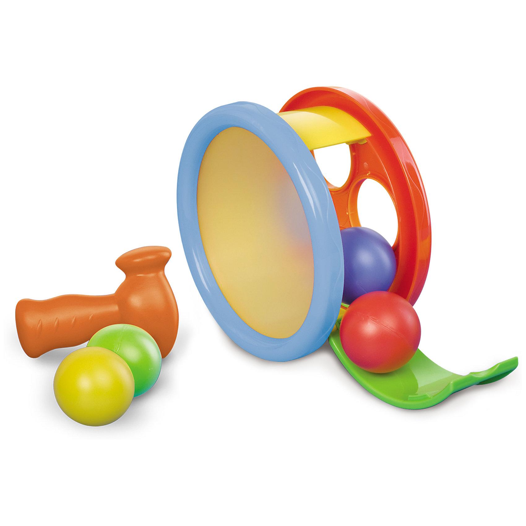 Игровой набор Арена с молоточком, BKidsРазвивать способности ребенка можно с самого раннего возраста. Делая это в игре, малыш всесторонне изучает мир и осваивает новые навыки. Эта игрушка одновременно и сортер с забивалкой, и барабан, и каталка. <br>Такие игрушки способствуют развитию мелкой моторики, воображения, цвето- и звуковосприятия, тактильных ощущений и обучению. Изделие разработано специально для самых маленьких. Сделано из материалов, безопасных для детей.<br><br>Дополнительная информация:<br><br>цвет: разноцветный;<br>комплектация: сортер-барабан, 4 шарика, молоточек;<br>размер упаковки: 20 х 9 х18 см;<br>возраст: от года.<br><br>Игровой набор Арена с молоточком от бренда BKids можно купить в нашем интернет-магазине.<br><br>Ширина мм: 95<br>Глубина мм: 95<br>Высота мм: 177<br>Вес г: 397<br>Возраст от месяцев: 12<br>Возраст до месяцев: 36<br>Пол: Унисекс<br>Возраст: Детский<br>SKU: 5055365