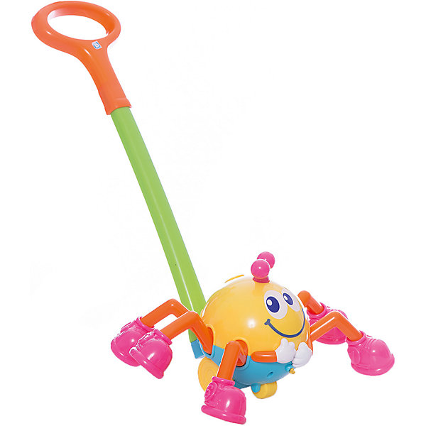 Игрушка Паучок на ручке, BKidsКаталки и качалки<br>Развивать способности ребенка можно с самого раннего возраста. Делая это в игре, малыш всесторонне изучает мир и осваивает новые навыки. Эта игрушка представляет собой музыкальную каталку в виде паучка.<br>Такие игрушки способствуют развитию мелкой моторики, воображения, цвето- и звуковосприятия, тактильных ощущений и обучению. Изделие разработано специально для самых маленьких. Сделано из материалов, безопасных для детей.<br><br>Дополнительная информация:<br><br>цвет: разноцветный;<br>размер: 60 х 36 х 17 см;<br>батарейки: 2хLR44, входят в комплект;<br>возраст: от года.<br><br>Игрушку Паучок на ручке от бренда BKids можно купить в нашем интернет-магазине.<br>Ширина мм: 375; Глубина мм: 375; Высота мм: 190; Вес г: 625; Возраст от месяцев: 12; Возраст до месяцев: 36; Пол: Унисекс; Возраст: Детский; SKU: 5055368;