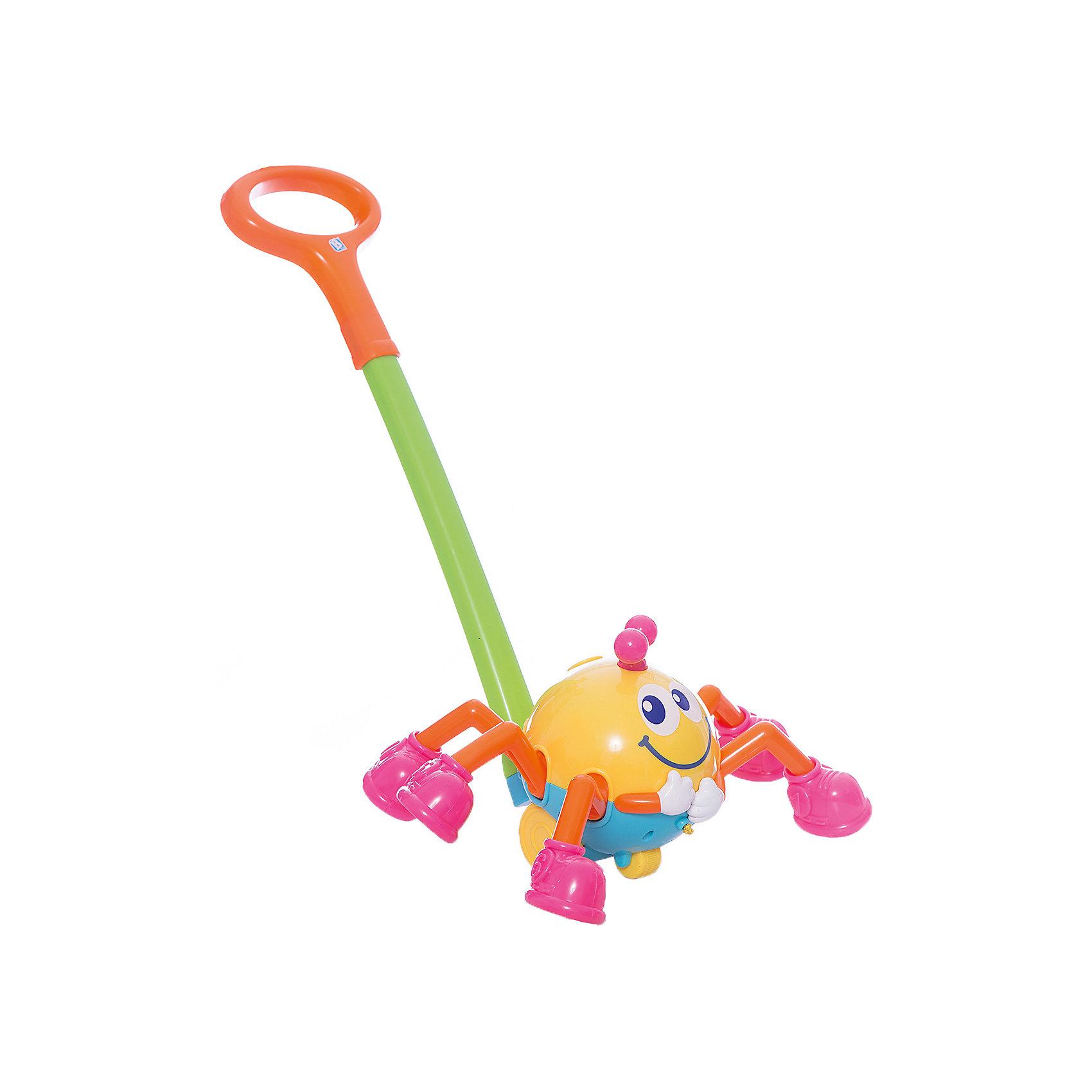 Игрушка Паучок на ручке, BKidsИнтерактивные игрушки для малышей<br>Развивать способности ребенка можно с самого раннего возраста. Делая это в игре, малыш всесторонне изучает мир и осваивает новые навыки. Эта игрушка представляет собой музыкальную каталку в виде паучка.<br>Такие игрушки способствуют развитию мелкой моторики, воображения, цвето- и звуковосприятия, тактильных ощущений и обучению. Изделие разработано специально для самых маленьких. Сделано из материалов, безопасных для детей.<br><br>Дополнительная информация:<br><br>цвет: разноцветный;<br>размер: 60 х 36 х 17 см;<br>батарейки: 2хLR44, входят в комплект;<br>возраст: от года.<br><br>Игрушку Паучок на ручке от бренда BKids можно купить в нашем интернет-магазине.<br><br>Ширина мм: 375<br>Глубина мм: 375<br>Высота мм: 190<br>Вес г: 625<br>Возраст от месяцев: 12<br>Возраст до месяцев: 36<br>Пол: Унисекс<br>Возраст: Детский<br>SKU: 5055368