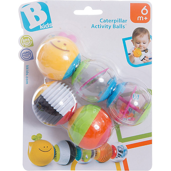 Игрушка - пазл Веселая гусеничка, BKidsИгрушки для новорожденных<br>Характеристики:<br><br>• игрушка-пазл для малышей;<br>• магнитное соединение деталей;<br>• прозрачные контейнеры с разнообразным наполнением;<br>• различная текстура шаров;<br>• количество в упаковке: 5 шт.;<br>• материал: пластик;<br>• размер упаковки: 20х15х6 см.<br><br>Развивать мелкую моторику пальчиков необходимо с самых ранних пор. Рельефные шарики складываются в пазл, цепочка может быть самых разных вариаций. Магнитное крепление позволяет легко собирать и разбирать пазл из шариков. <br><br>Игрушка-пазл Веселая гусеничка, BKids можно купить в нашем интернет-магазине.<br>Ширина мм: 152; Глубина мм: 152; Высота мм: 55; Вес г: 146; Возраст от месяцев: 6; Возраст до месяцев: 36; Пол: Унисекс; Возраст: Детский; SKU: 5055370;
