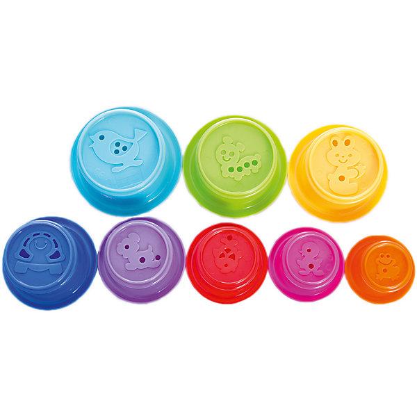 Игровой набор Формочки, BKidsИграем в песочнице<br>Характеристики:<br><br>• развивающая игрушка для детей от 9 месяцев;<br>• цветные формочки разного диаметра вкладываются друг в друга или выстраиваются башенкой;<br>• каждая формочка окрашена в яркий цвет;<br>• с помощью формочек можно изучать цвета и формы;<br>• на дне каждой детали изображено рельефное животное;<br>• в комплекте 7 стаканчиков;<br>• материал: пластик;<br>• размер упаковки: 10х10х19 см.<br> <br>Детский игровой набор «Формочки» предлагает малышам несколько видов игр. Это могут быть игры в песочнице, в ванной, в комнате. Формочки яркие, декорированы изображением животных на дне каждой детали. Стаканчики можно вкладывать друг в друга, строить из них башни, лепить куличики из песка и наливать воду, которая может просачиваться через отверстия тонкими струйками. <br><br>Игровой набор Формочки, BKids можно купить в нашем интернет-магазине.<br>Ширина мм: 95; Глубина мм: 95; Высота мм: 192; Вес г: 204; Возраст от месяцев: 6; Возраст до месяцев: 36; Пол: Унисекс; Возраст: Детский; SKU: 5055375;