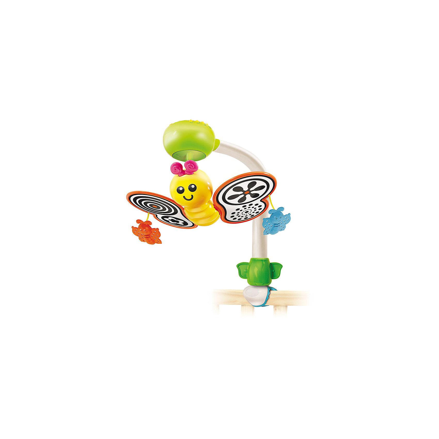 Мобиль на кроватку, BKidsМобили<br>Развивать способности ребенка можно с самого раннего возраста. Делая это в игре, малыш всесторонне изучает мир и осваивает новые навыки. Эта игрушка представляет собой музыкальный мобиль - он играет мелодии, громкость можно регулировать.<br>Такие игрушки способствуют развитию мелкой моторики, воображения, цвето- и звуковосприятия, тактильных ощущений и обучению. Изделие разработано специально для самых маленьких. Сделано из материалов, безопасных для детей.<br><br>Дополнительная информация:<br><br>цвет: разноцветный;<br>размер: 22 х 30 см;<br>возраст: с рождения.<br><br>Мобиль на кроватку от бренда BKids можно купить в нашем интернет-магазине.<br><br>Ширина мм: 379<br>Глубина мм: 317<br>Высота мм: 109<br>Вес г: 725<br>Возраст от месяцев: 0<br>Возраст до месяцев: 6<br>Пол: Унисекс<br>Возраст: Детский<br>SKU: 5055378