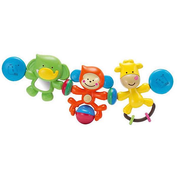 Подвеска Веселые друзья, BKidsИгрушки для новорожденных<br>Малыши стремятся познавать всё новое - делать это можно с самого раннего возраста. Играя, малыш всесторонне изучает мир и осваивает новые навыки. Эта игрушка представляет собой подвеску - она играет мелодии и снабжена световыми эффектами.<br>Такие игрушки способствуют развитию мелкой моторики, воображения, цвето- и звуковосприятия, тактильных ощущений и обучению. Изделие разработано специально для самых маленьких. Сделано из материалов, безопасных для детей.<br><br>Дополнительная информация:<br><br>цвет: разноцветный;<br>размер упаковки: 33 х 6 х 20 см;<br>возраст: с рождения.<br><br>Подвеску Веселые друзья от бренда BKids можно купить в нашем интернет-магазине.<br>Ширина мм: 63; Глубина мм: 63; Высота мм: 203; Вес г: 316; Возраст от месяцев: 0; Возраст до месяцев: 36; Пол: Унисекс; Возраст: Детский; SKU: 5055379;