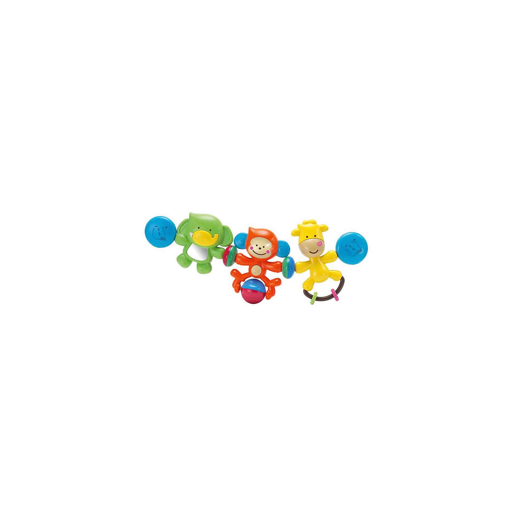 Подвеска Веселые друзья, BKidsПодвески<br>Малыши стремятся познавать всё новое - делать это можно с самого раннего возраста. Играя, малыш всесторонне изучает мир и осваивает новые навыки. Эта игрушка представляет собой подвеску - она играет мелодии и снабжена световыми эффектами.<br>Такие игрушки способствуют развитию мелкой моторики, воображения, цвето- и звуковосприятия, тактильных ощущений и обучению. Изделие разработано специально для самых маленьких. Сделано из материалов, безопасных для детей.<br><br>Дополнительная информация:<br><br>цвет: разноцветный;<br>размер упаковки: 33 х 6 х 20 см;<br>возраст: с рождения.<br><br>Подвеску Веселые друзья от бренда BKids можно купить в нашем интернет-магазине.<br><br>Ширина мм: 63<br>Глубина мм: 63<br>Высота мм: 203<br>Вес г: 316<br>Возраст от месяцев: 0<br>Возраст до месяцев: 36<br>Пол: Унисекс<br>Возраст: Детский<br>SKU: 5055379