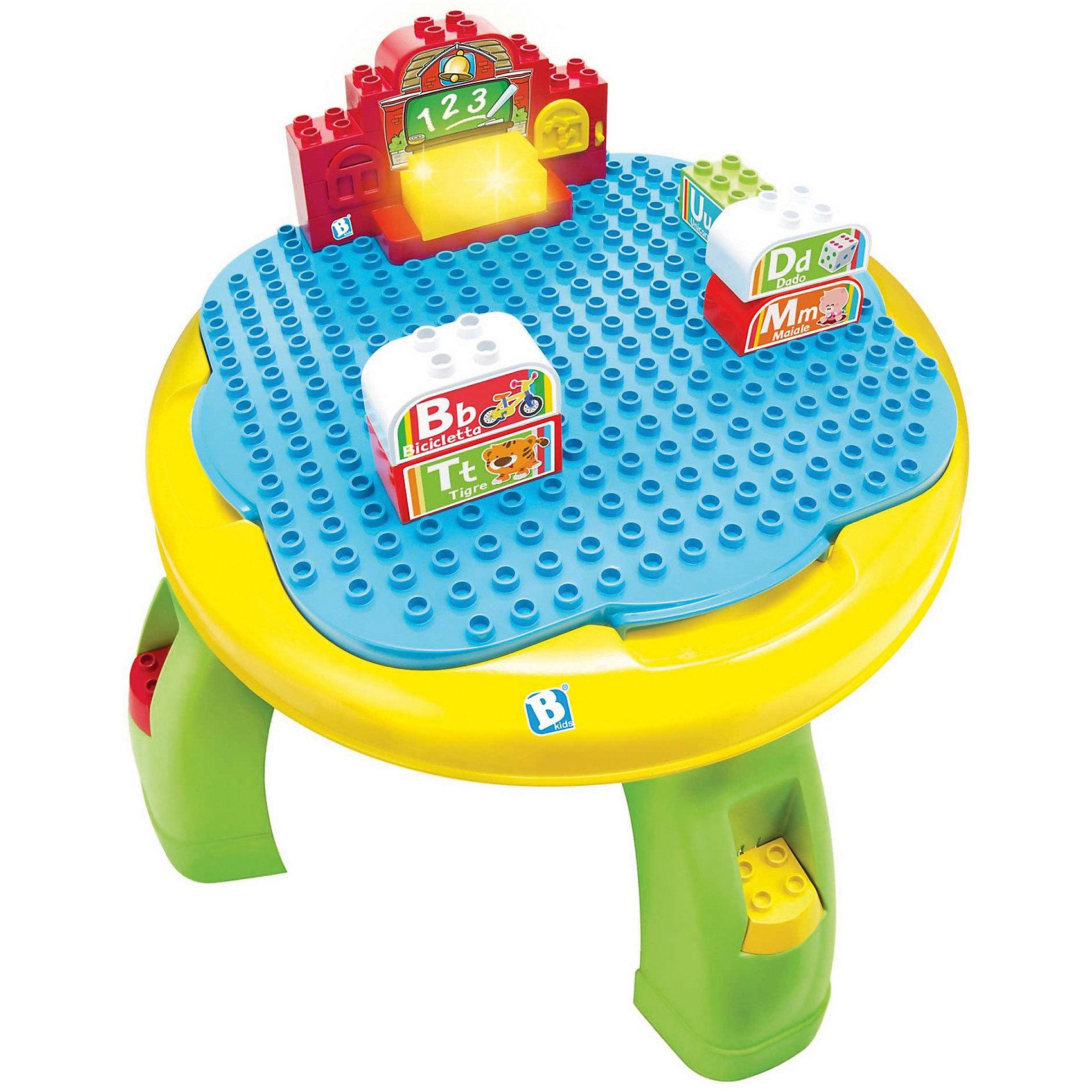 Развивающий столик, BKidsМалыши стремятся познавать всё новое - делать это можно с самого раннего возраста. Играя, малыш всесторонне изучает мир и осваивает новые навыки. Эта игрушка представляет собой конструктор с отсеком для хранения, также это - увлекательная интерактивная игра на запоминание английского алфавита, он произносит слова и поет песни.<br>Такие игрушки способствуют развитию мелкой моторики, воображения, цвето- и звуковосприятия, тактильных ощущений и обучению. Изделие разработано специально для самых маленьких. Сделано из материалов, безопасных для детей.<br><br>Дополнительная информация:<br><br>цвет: разноцветный;<br>размер столика: 29 х 38 см;<br>возраст: с двух лет.<br><br>Развивающий столик от бренда BKids можно купить в нашем интернет-магазине.<br><br>Ширина мм: 108<br>Глубина мм: 108<br>Высота мм: 395<br>Вес г: 2193<br>Возраст от месяцев: 24<br>Возраст до месяцев: 48<br>Пол: Унисекс<br>Возраст: Детский<br>SKU: 5055380