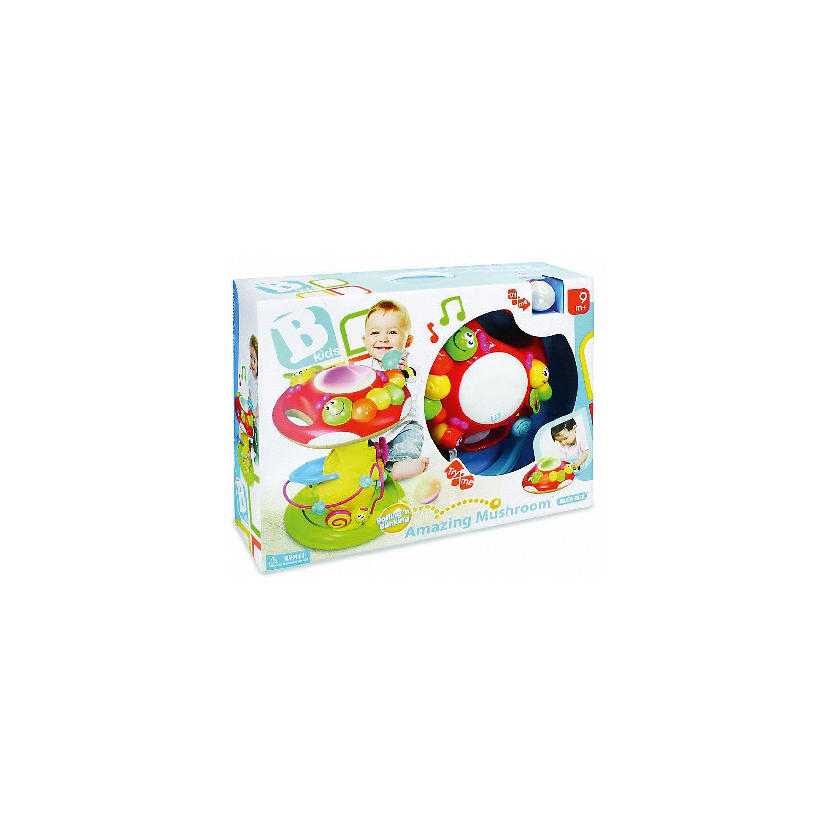 Игрушка Грибок, BKidsИнтерактивные игрушки для малышей<br>Малыши стремятся познавать всё новое - делать это можно с самого раннего возраста. Играя, малыш всесторонне изучает мир и осваивает новые навыки. Эта игрушка представляет собой интерактивный развивающий центр, рассчитанный на детей нескольких возрастов. Помимо самого гриба в коробке есть три шарика (один из которых – светящийся): бросайте их в отверстие на шляпке мухомора – шары будут скатываться вниз, а из гриба донесется приятная мелодия. В развивающий центр встроена популярная логическая игрушка лабиринт и пианино.<br>Такие игрушки способствуют развитию мелкой моторики, воображения, цвето- и звуковосприятия, тактильных ощущений и обучению. Изделие разработано специально для самых маленьких. Сделано из материалов, безопасных для детей.<br><br>Дополнительная информация:<br><br>цвет: разноцветный;<br>размер: 40 х 30 см;<br>батарейки 2хАА и 2хLR44 входят в комплект;<br>возраст: с 9 мес.<br><br>Игрушку Грибок от бренда BKids можно купить в нашем интернет-магазине.<br><br>Ширина мм: 139<br>Глубина мм: 139<br>Высота мм: 406<br>Вес г: 2480<br>Возраст от месяцев: 9<br>Возраст до месяцев: 36<br>Пол: Унисекс<br>Возраст: Детский<br>SKU: 5055381