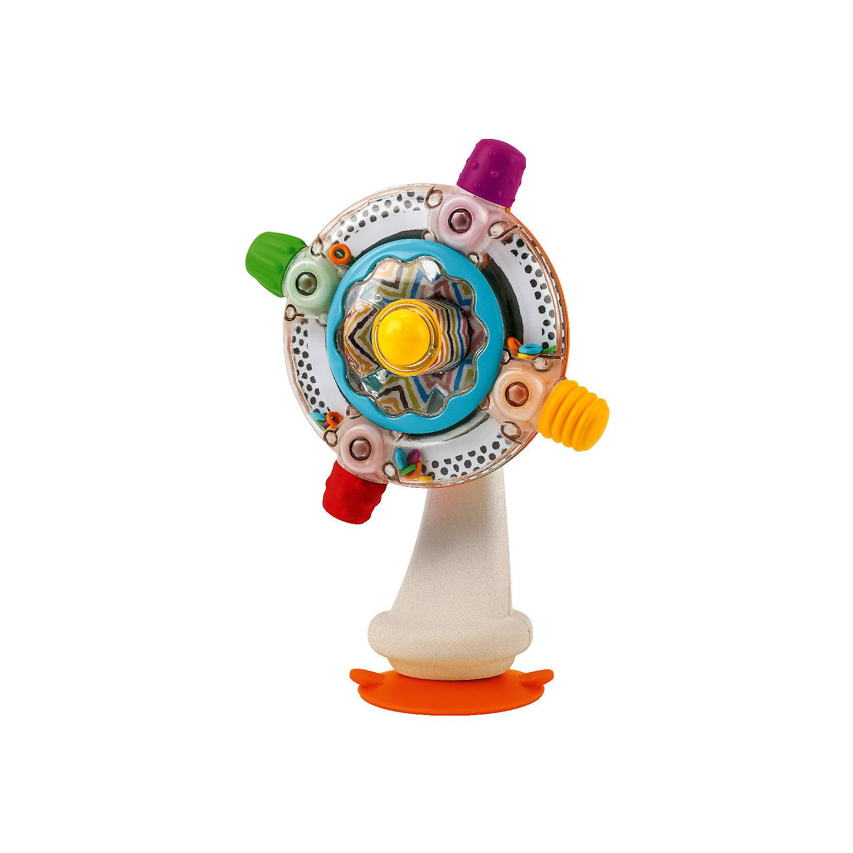 Игрушка  на присоске Sensory, BKidsИнтерактивные игрушки для малышей<br>Помогать развивать способности ребенка можно с самого раннего возраста. Делая это в игре, малыш всесторонне изучает мир и осваивает новые навыки. Эта игрушка представляет собой симпатичный вентилятор на присоске.<br>Такие игрушки способствуют развитию мелкой моторики, воображения, цвето- и звуковосприятия, тактильных ощущений и обучению. Изделие разработано специально для самых маленьких. Сделано из материалов, безопасных для детей.<br><br>Дополнительная информация:<br><br>цвет: бело-серебристый;<br>звуковые эффекты;<br>возраст: с 6 мес.<br><br>Игрушку на присоске Sensory от бренда BKids можно купить в нашем интернет-магазине.<br><br>Ширина мм: 84<br>Глубина мм: 84<br>Высота мм: 203<br>Вес г: 300<br>Возраст от месяцев: 6<br>Возраст до месяцев: 36<br>Пол: Унисекс<br>Возраст: Детский<br>SKU: 5055385