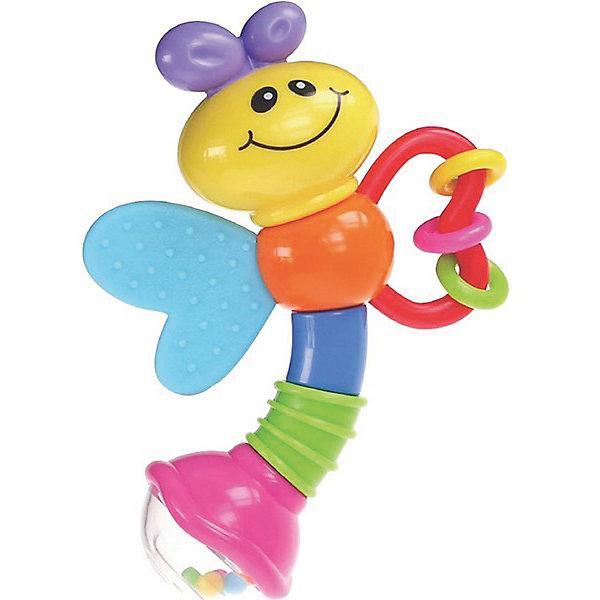 Игрушка Стрекоза, BKidsИгрушки для новорожденных<br>Характеристики:<br><br>• погремушка для малышей;<br>• трещетка;<br>• шарики в прозрачном контейнере;<br>• перекатывающиеся кольца на спирали;<br>• улыбчивая мордашка стрекозки;<br>• развитие мелкой моторики, зрения и слуха;<br>• материал: пластик.<br><br>Забавная погремушка-стрекоза для малышей состоит из нескольких подвижных элементов. Разноцветные шарики в прозрачном контейнере перекатываются и создают мелодичный перезвон. Цветные кольца можно перекатывать и даже грызть. Яркое оформление игрушки развивает зрительное восприятие ребенка. <br><br>Игрушка Стрекоза, BKids можно купить в нашем интернет-магазине.<br>Ширина мм: 101; Глубина мм: 101; Высота мм: 20; Вес г: 95; Возраст от месяцев: 0; Возраст до месяцев: 36; Пол: Унисекс; Возраст: Детский; SKU: 5055388;