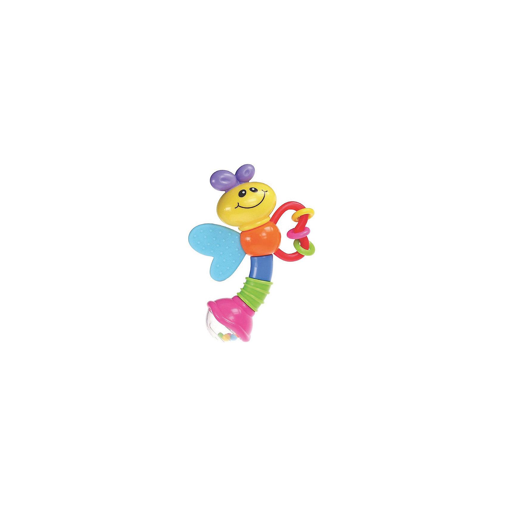 Игрушка Стрекоза, BKidsПогремушки<br>Развивать способности ребенка можно с самого раннего возраста. Делая это в игре, малыш всесторонне изучает мир и осваивает новые навыки. Эта игрушка представляет собой погремушку и прорезыватель в виде стрекозы с фактурной поверхностью. <br>Такие игрушки способствуют развитию мелкой моторики, воображения, цвето- и звуковосприятия, тактильных ощущений и обучению. Изделие разработано специально для самых маленьких. Сделано из материалов, безопасных для детей.<br><br>Дополнительная информация:<br><br>цвет: разноцветный;<br>размер упаковки: 10 х 10 см;<br>возраст: с рождения.<br><br>Игрушку Стрекоза от бренда BKids можно купить в нашем интернет-магазине.<br><br>Ширина мм: 101<br>Глубина мм: 101<br>Высота мм: 20<br>Вес г: 95<br>Возраст от месяцев: 0<br>Возраст до месяцев: 36<br>Пол: Унисекс<br>Возраст: Детский<br>SKU: 5055388