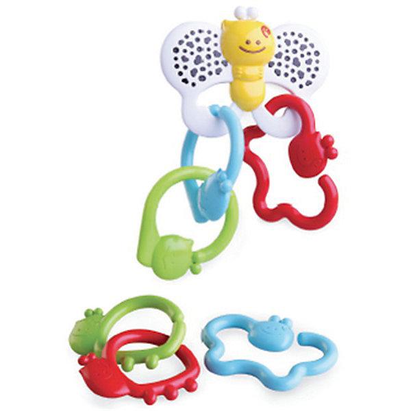 Игрушка - цепь Бабочка, BKidsИгрушки для новорожденных<br>Характеристики:<br><br>• игрушка-прорезыватель;<br>• элементы крепятся на подвеску-бабочку;<br>• основные цвета элементов: можно называть ребенку каждый цвет;<br>• массирование десен на этапе прорезывания зубов;<br>• материал: пластик;<br>• размер упаковки: 16х4х20 см. <br><br>Игрушки необходимы малышу для всестороннего развития и освоения новых навыков. Игрушка-прорезыватель «Бабочка» сочетает в себе несколько функциональных моментов, с помощью которых развиваются тактильные, зрительные ощущения. <br> <br>Игрушка-цепь Бабочка, BKids можно купить в нашем интернет-магазине.<br>Ширина мм: 35; Глубина мм: 35; Высота мм: 205; Вес г: 168; Возраст от месяцев: 0; Возраст до месяцев: 36; Пол: Унисекс; Возраст: Детский; SKU: 5055389;