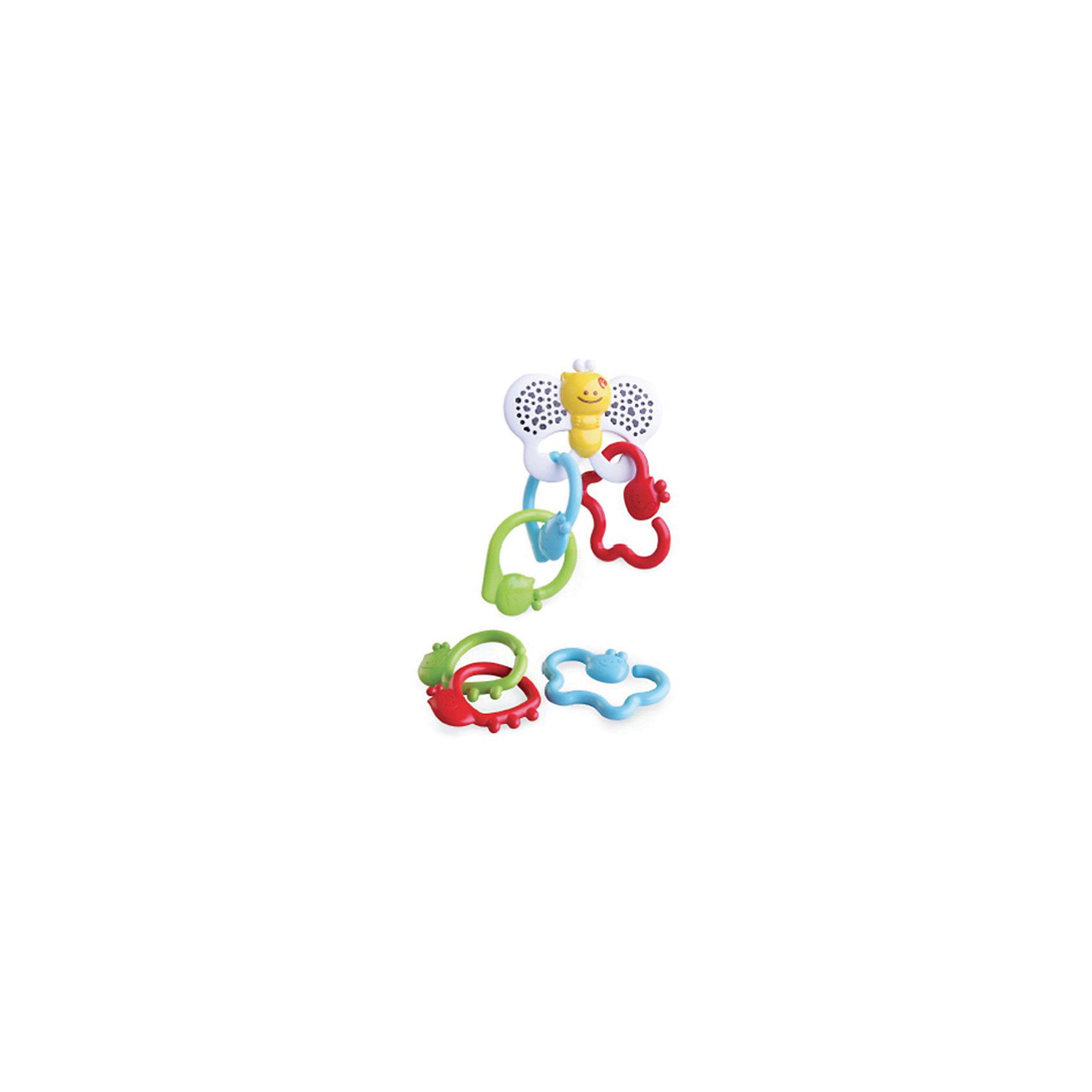 Игрушка - цепь Бабочка, BKidsПрорезыватели<br>Развивать способности ребенка можно с самого раннего возраста. Делая это в игре, малыш всесторонне изучает мир и осваивает новые навыки. Эта игрушка представляет собой подвеску и прорезыватель в виде бабочки. <br>Такие игрушки способствуют развитию мелкой моторики, воображения, цвето- и звуковосприятия, тактильных ощущений и обучению. Изделие разработано специально для самых маленьких. Сделано из материалов, безопасных для детей.<br><br>Дополнительная информация:<br><br>цвет: разноцветный;<br>размер упаковки: 16 х 4 х 20 см;<br>возраст: с рождения.<br><br>Игрушку - цепь Бабочка от бренда BKids можно купить в нашем интернет-магазине.<br><br>Ширина мм: 35<br>Глубина мм: 35<br>Высота мм: 205<br>Вес г: 168<br>Возраст от месяцев: 0<br>Возраст до месяцев: 36<br>Пол: Унисекс<br>Возраст: Детский<br>SKU: 5055389