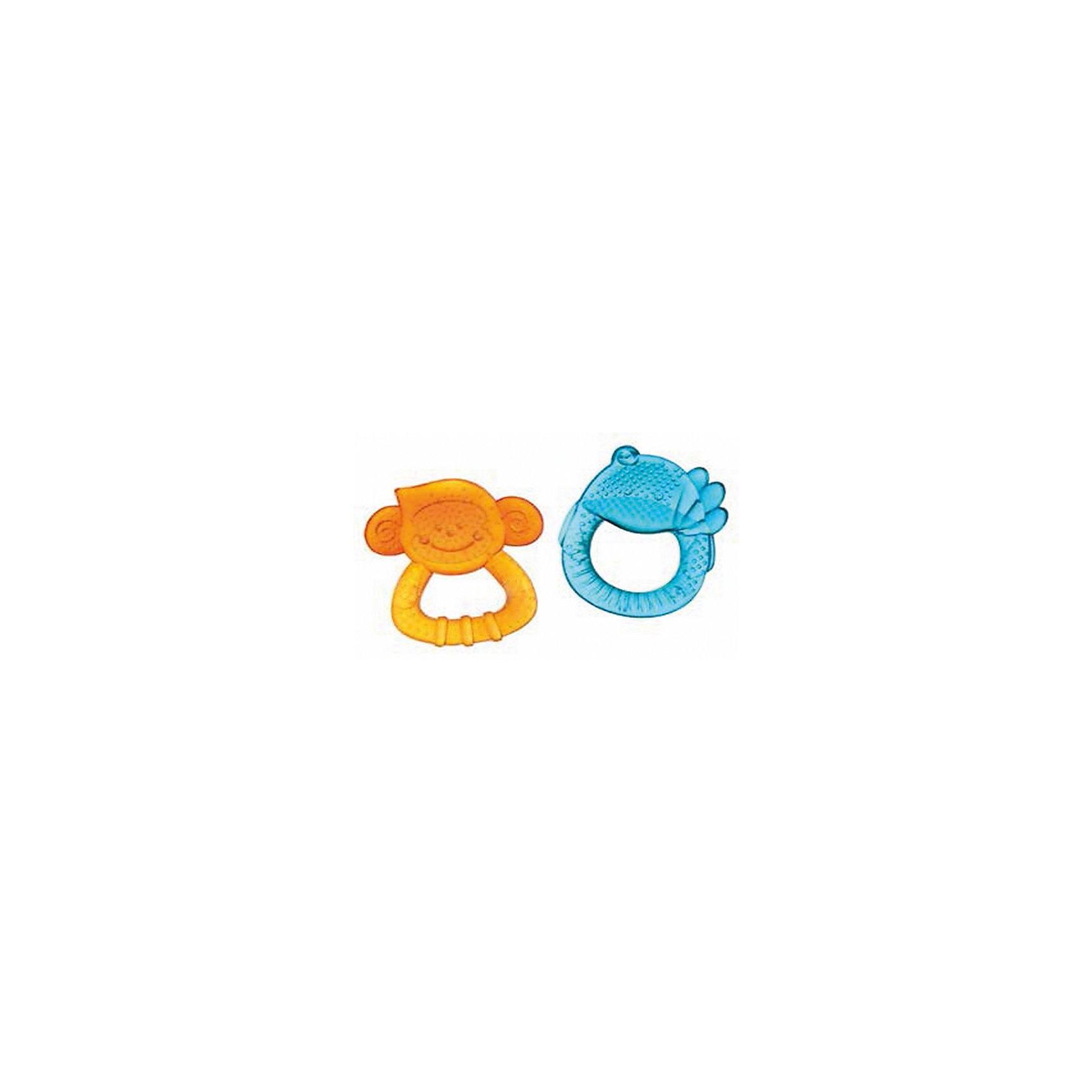 Набор прорезывателей Приятели, 2 шт, BKidsПрорезыватели<br>Прорезыватели необходимы детям, у которых режутся зубки. Они могут выглядеть очень симпатично! Эта игрушка представляет собой набор прорезывателей в виде утенка и обезьяны с водой внутри. Вы можете охладить их, чтобы облегчить болевые ощущения ребенка. <br>Такие игрушки способствуют развитию мелкой моторики, воображения, цветовосприятия, тактильных ощущений. Изделие разработано специально для самых маленьких. Сделано из материалов, безопасных для детей.<br><br>Дополнительная информация:<br><br>цвет: разноцветный;<br>комплектакция: 2 прорезывателя;<br>возраст: с рождения.<br><br>Набор прорезывателей Приятели от бренда BKids можно купить в нашем интернет-магазине.<br><br>Ширина мм: 38<br>Глубина мм: 38<br>Высота мм: 203<br>Вес г: 99<br>Возраст от месяцев: 0<br>Возраст до месяцев: 36<br>Пол: Унисекс<br>Возраст: Детский<br>SKU: 5055390