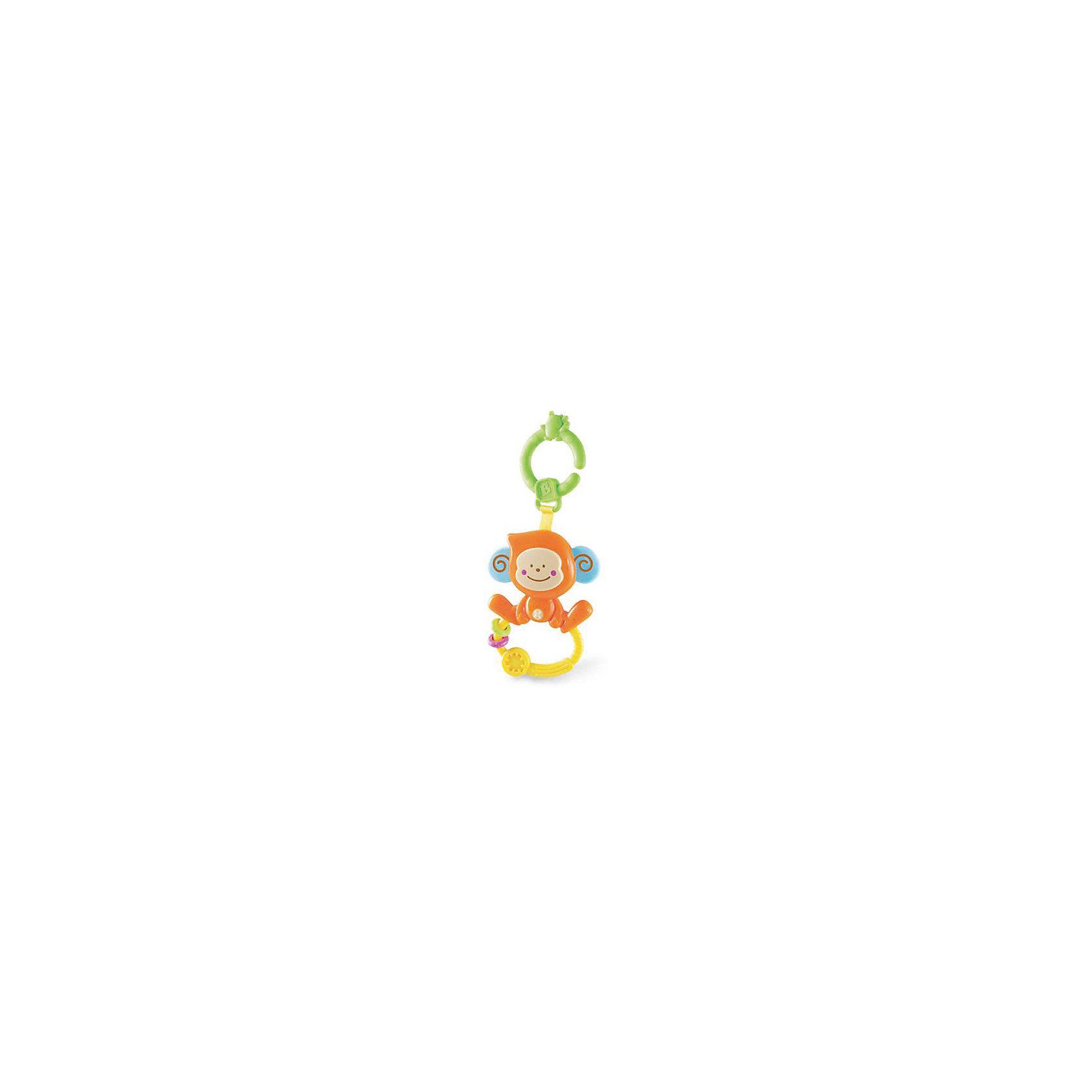 Игрушка Веселая обезьянка с колечком, BKidsПрорезыватели необходимы детям, у которых режутся зубки. Они могут выглядеть очень симпатично! Эта игрушка представляет собой прорезыватель в виде обезьяны. На её ножках есть колечко с рельефной поверхностью и двумя мини-массажерами для десен. Если нажать на нос, услышите звук. <br>Такие игрушки способствуют развитию мелкой моторики, воображения, цветовосприятия, тактильных ощущений. Изделие разработано специально для самых маленьких. Сделано из материалов, безопасных для детей.<br><br>Дополнительная информация:<br><br>цвет: разноцветный;<br>размеры упаковки: 12 х 11 см;<br>возраст: с рождения.<br><br>Игрушку Веселая обезьянка с колечком от бренда BKids можно купить в нашем интернет-магазине.<br><br>Ширина мм: 114<br>Глубина мм: 114<br>Высота мм: 20<br>Вес г: 81<br>Возраст от месяцев: 0<br>Возраст до месяцев: 36<br>Пол: Унисекс<br>Возраст: Детский<br>SKU: 5055393