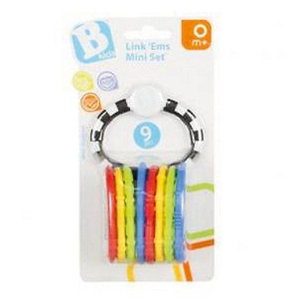 Игрушка - цепь Веселые колечки, 9 шт, BKidsИгрушки для новорожденных<br>Характеристики:<br><br>• развивающая игрушка для детей с первых дней жизни;<br>• рельефная поверхность колец для развития тактильного восприятия;<br>• яркое цветовое оформление – возможность изучить с малышом цвета;<br>• кольца можно использовать в качестве карабинов для крепления подвесных игрушек к дуге игрового коврика;<br>• количество в упаковке: 9 шт.;<br>• материал: пластик;<br>• размер упаковки: 10,8х6,8х19,7 см;<br>• вес: 80 г.<br> <br>Игрушка-прорезыватель «Веселы колечки» оформлена в виде цветных колец, которые надеты на кольцо-держатель. Яркие цвета, рельефная форма колец и удобный захват ручками позволяет развивать у малыша мелкую моторику пальчиков, тактильное и зрительное восприятие. <br><br>Игрушка-цепь Веселые колечки, 9 шт, BKids можно купить в нашем интернет-магазине.<br>Ширина мм: 68; Глубина мм: 68; Высота мм: 197; Вес г: 80; Возраст от месяцев: 12; Возраст до месяцев: 36; Пол: Унисекс; Возраст: Детский; SKU: 5055394;