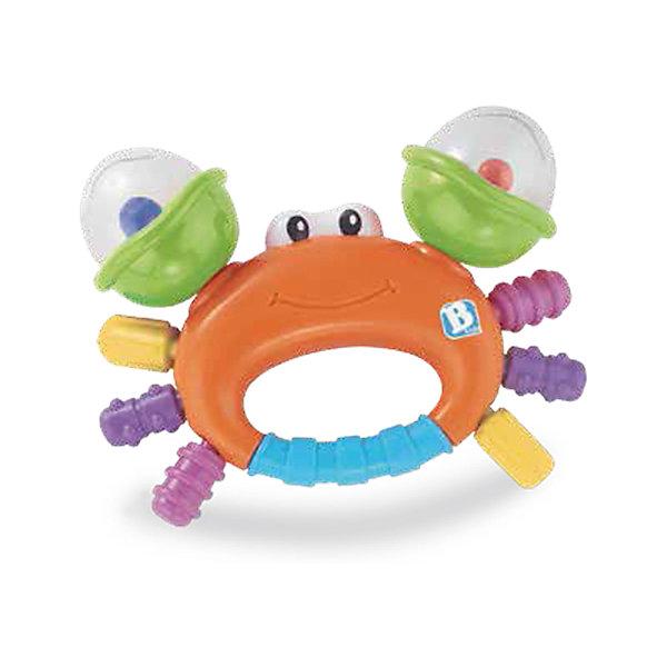 Игрушка Веселый краб, BKidsИгрушки для новорожденных<br>Прорезыватели необходимы детям, у которых режутся зубки. Они могут выглядеть очень симпатично! Эта игрушка представляет собой прорезыватель в виде краба, у него погремушки с цветными шариками в клешнях, а сами клешни крутятся.<br>Такие игрушки способствуют развитию мелкой моторики, воображения, цветовосприятия, тактильных ощущений. Изделие разработано специально для самых маленьких. Сделано из материалов, безопасных для детей.<br><br>Дополнительная информация:<br><br>цвет: разноцветный;<br>размеры игрушки: 14 х 10 х 4 см;<br>возраст: с рождения.<br><br>Игрушку Веселый краб от бренда BKids можно купить в нашем интернет-магазине.<br><br>Ширина мм: 114<br>Глубина мм: 114<br>Высота мм: 20<br>Вес г: 88<br>Возраст от месяцев: 0<br>Возраст до месяцев: 36<br>Пол: Унисекс<br>Возраст: Детский<br>SKU: 5055397
